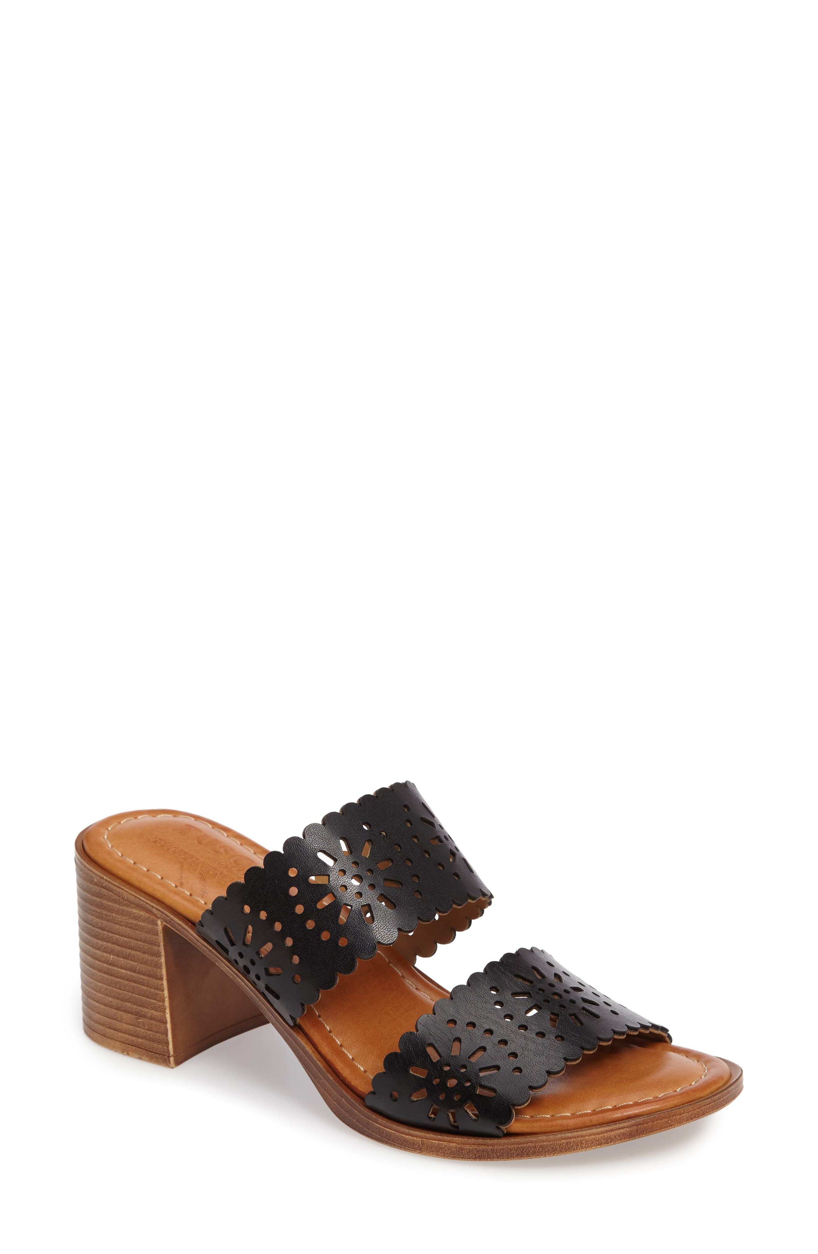by Easy Street<sup>®</sup> Susana Sandal,                         Main,                         color, BLACK FAUX PATENT