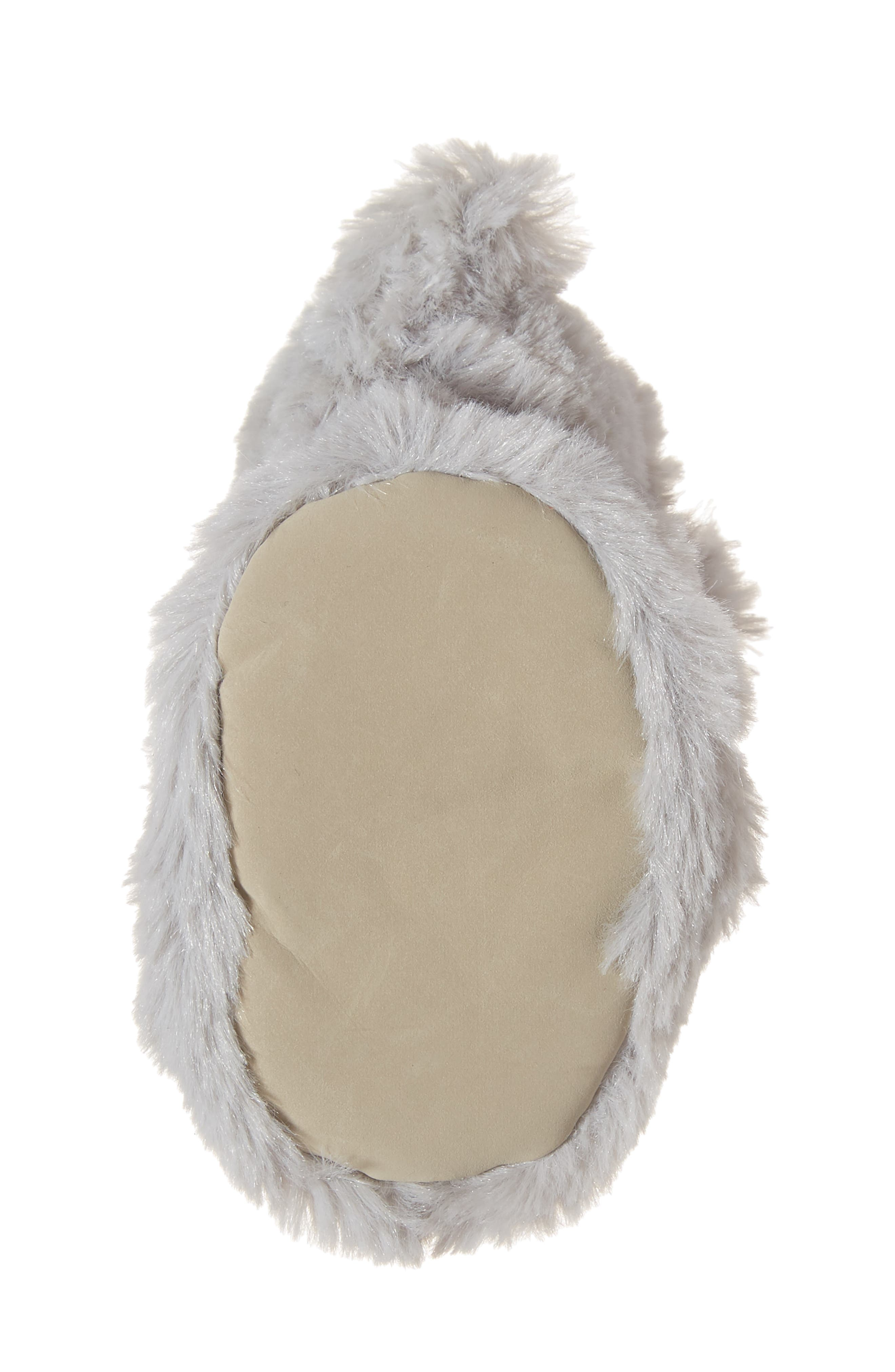 Faux Fur Animal Slipper,                             Alternate thumbnail 6, color,                             GREY ELEPHANT