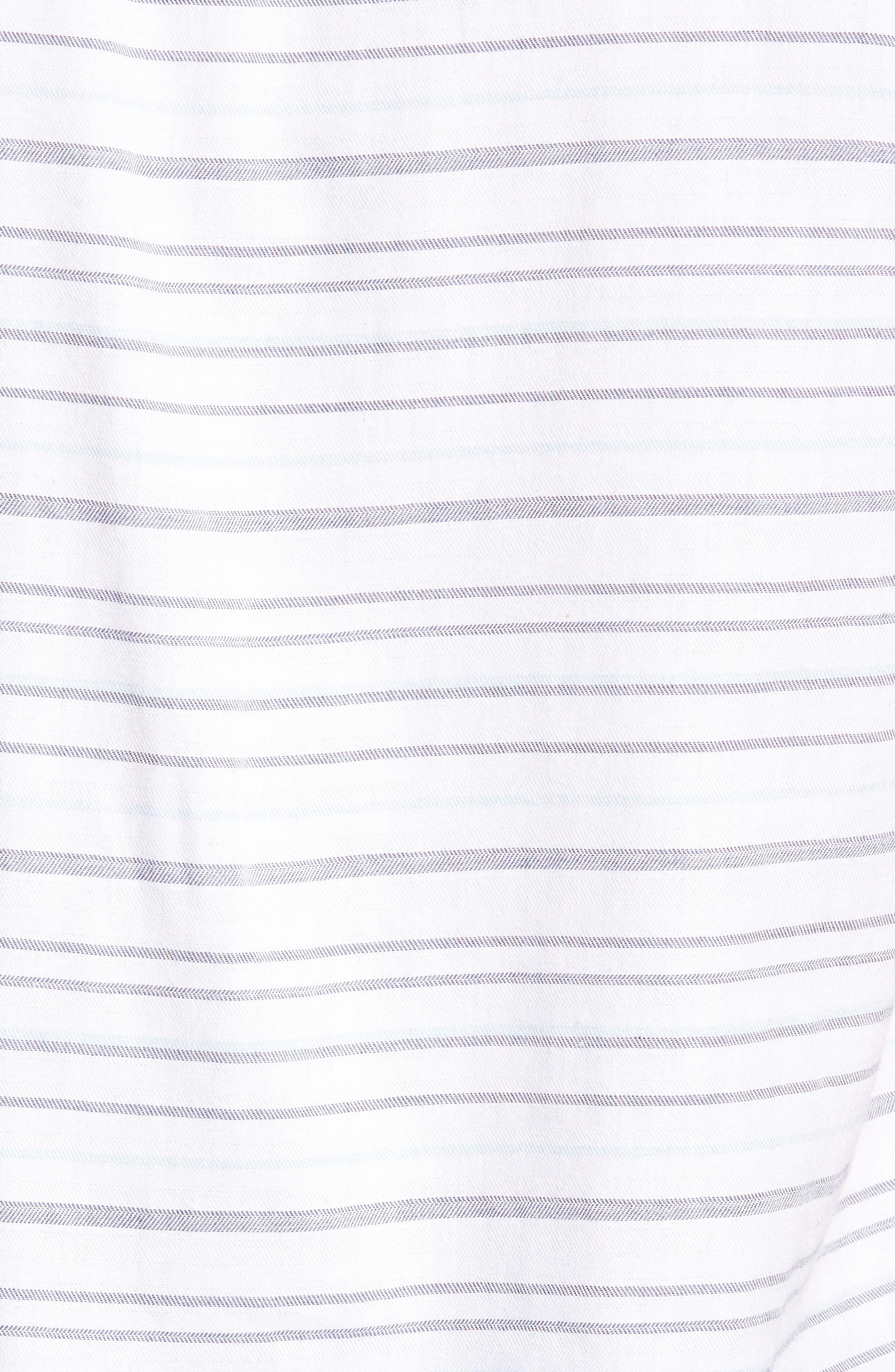 Long Board Stripe Sport Shirt,                             Alternate thumbnail 5, color,                             100