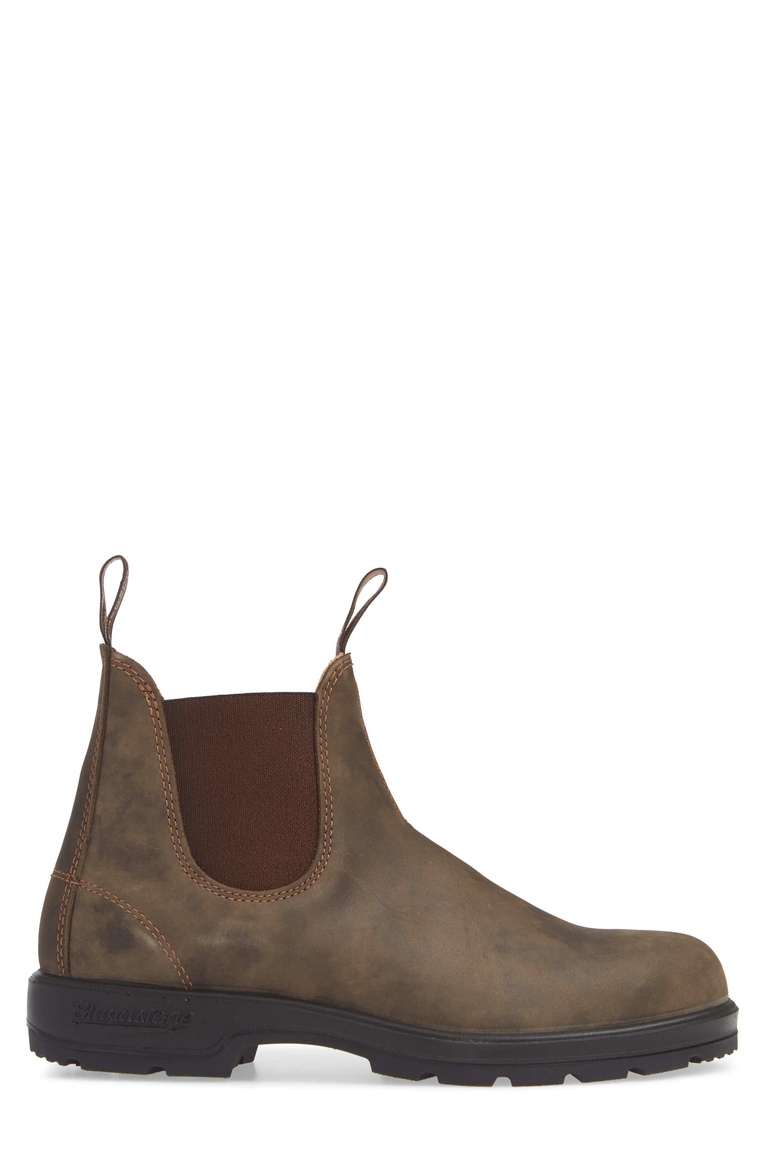 Chelsea Boot,                             Alternate thumbnail 3, color,                             RUSTIC BROWN