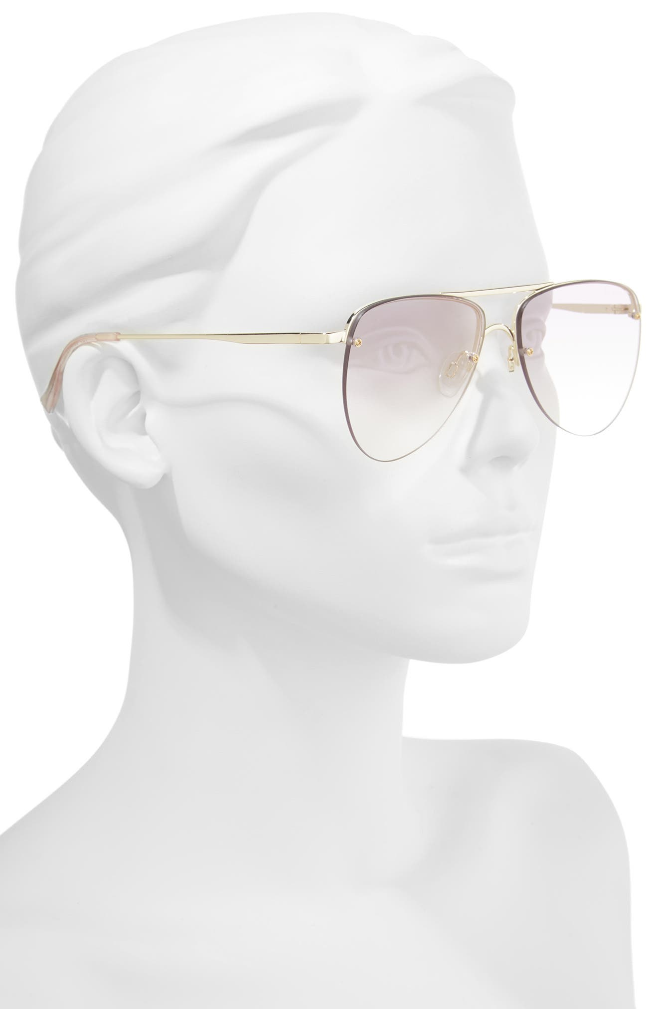 The Prince 57mm Aviator Sunglasses,                             Alternate thumbnail 2, color,                             GOLD
