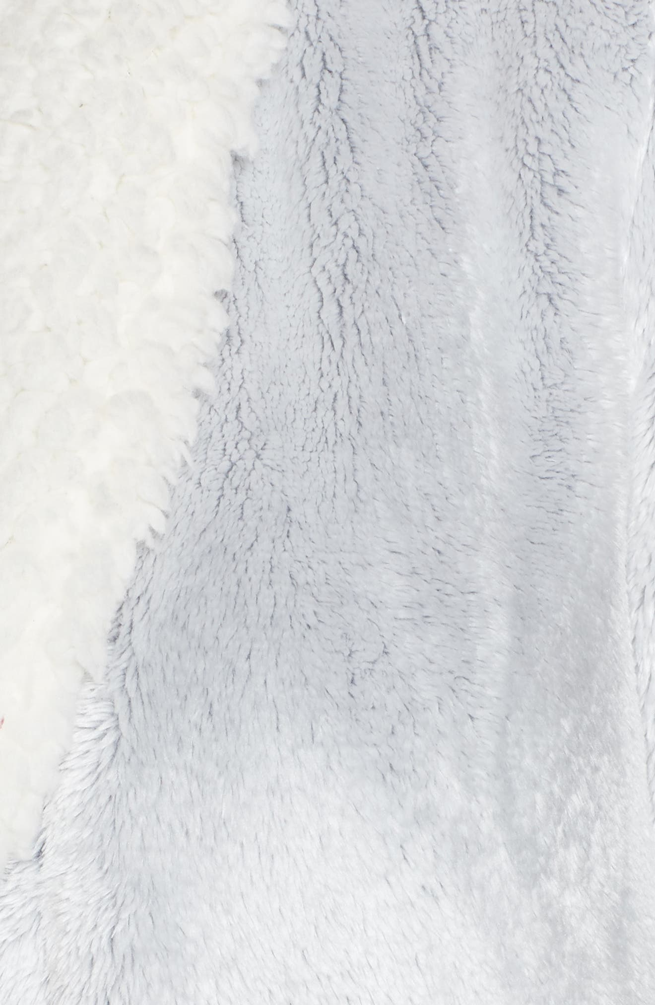Frosted Plush Robe,                             Alternate thumbnail 5, color,                             GREY PEPPER