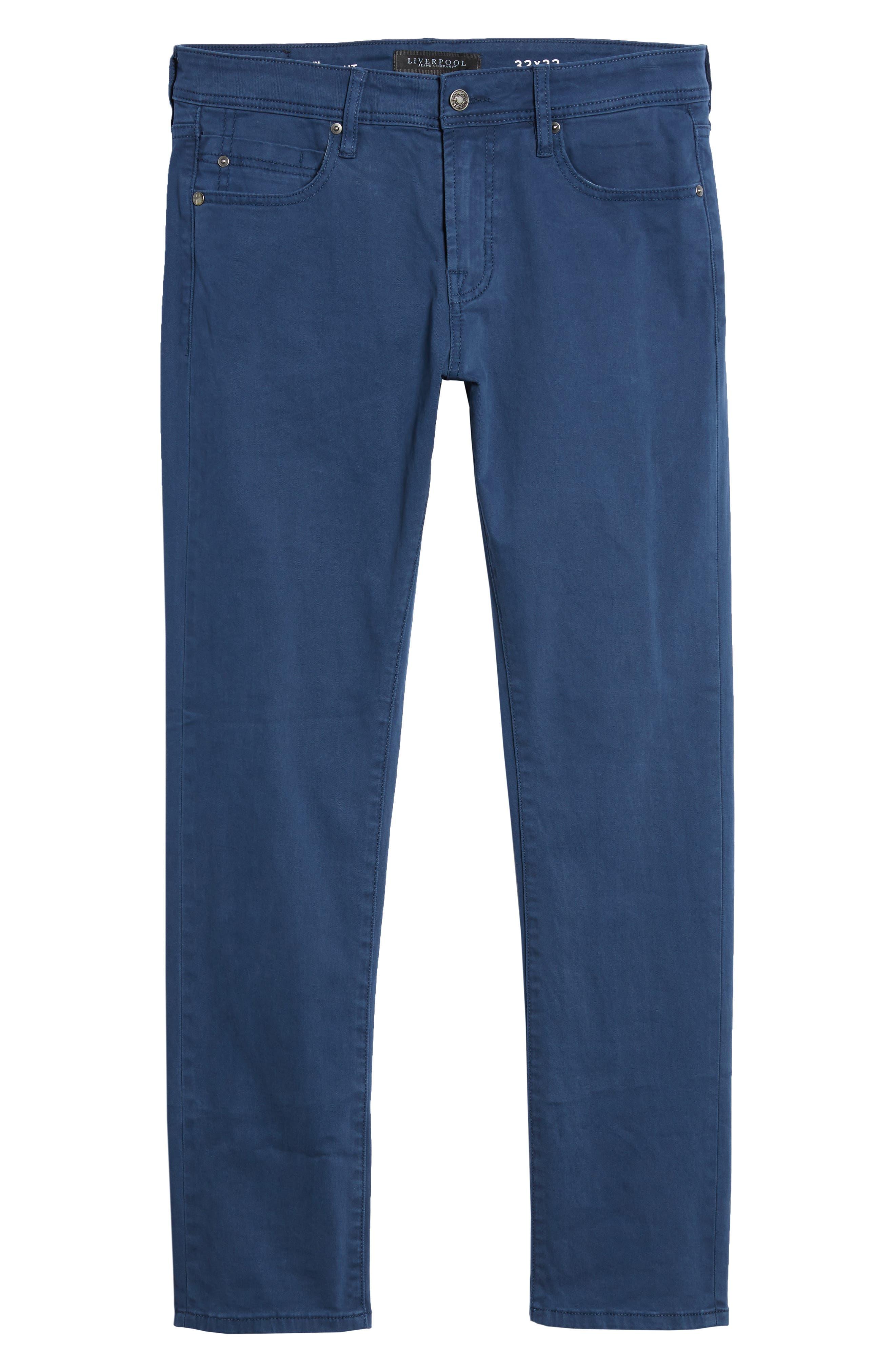 Jeans Co. Kingston Slim Straight Leg Jeans,                             Alternate thumbnail 6, color,                             BLUE TWILIGHT