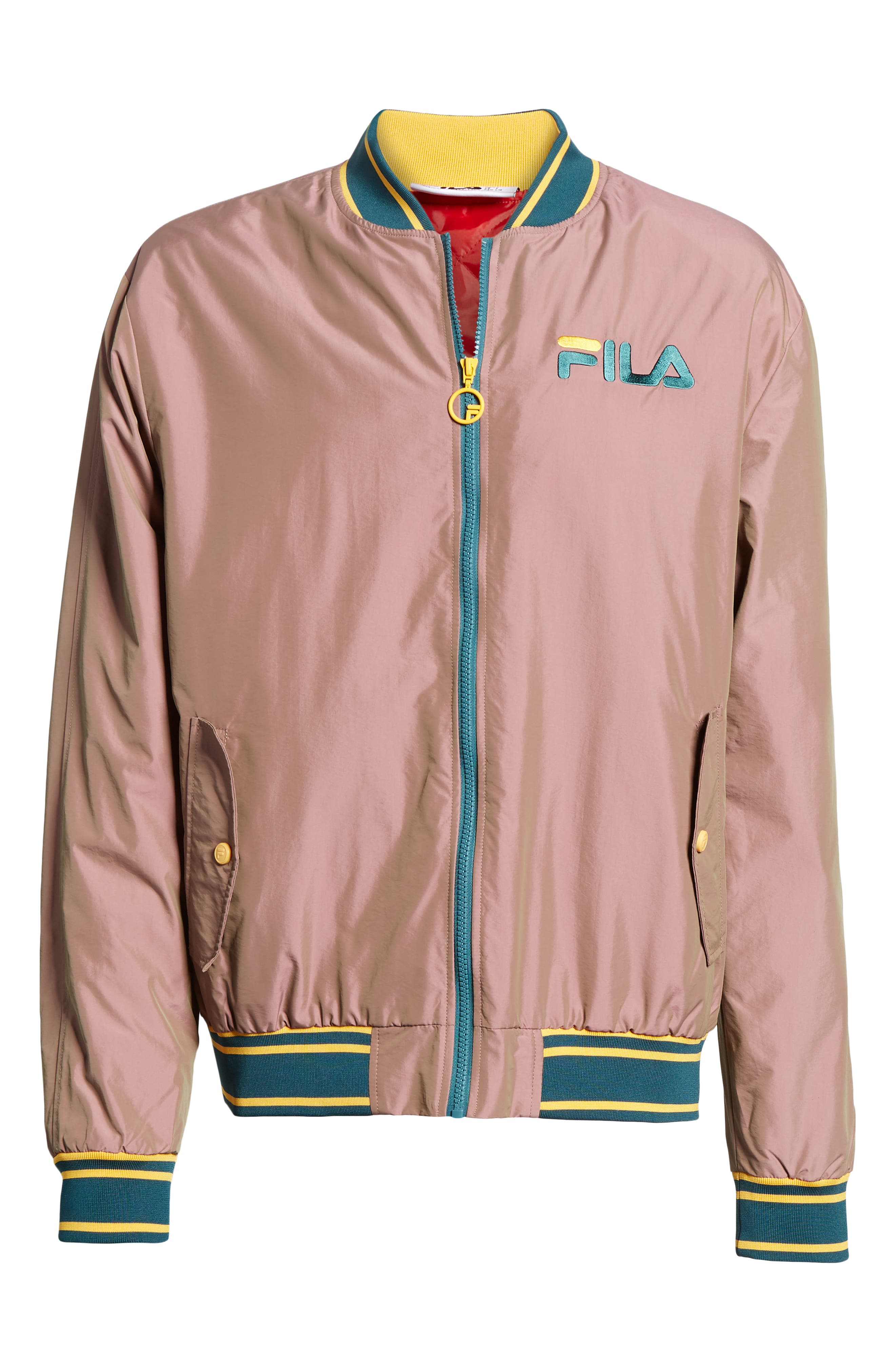 Skyler Bomber Jacket,                             Alternate thumbnail 6, color,                             PINK SHADOW/ ATLANTIC DEEP/