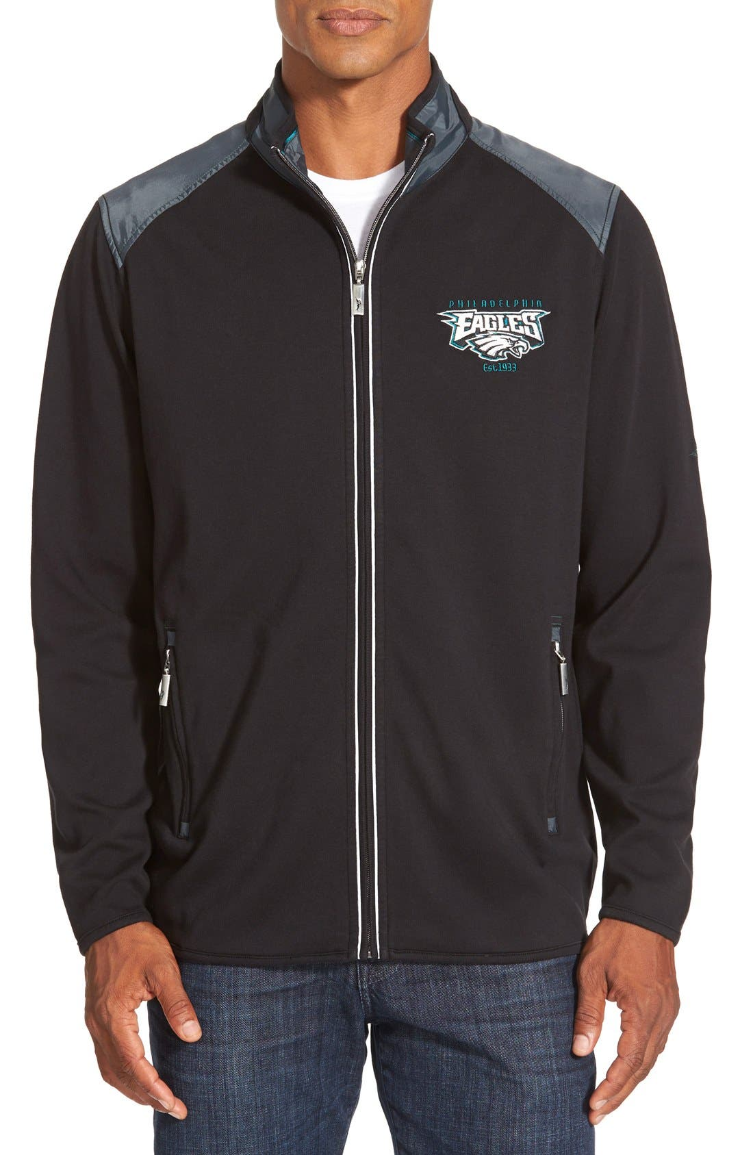 TOMMY BAHAMA,                             'Goal Line - Baltimore Ravens' NFL Full Zip Jacket,                             Main thumbnail 1, color,                             001