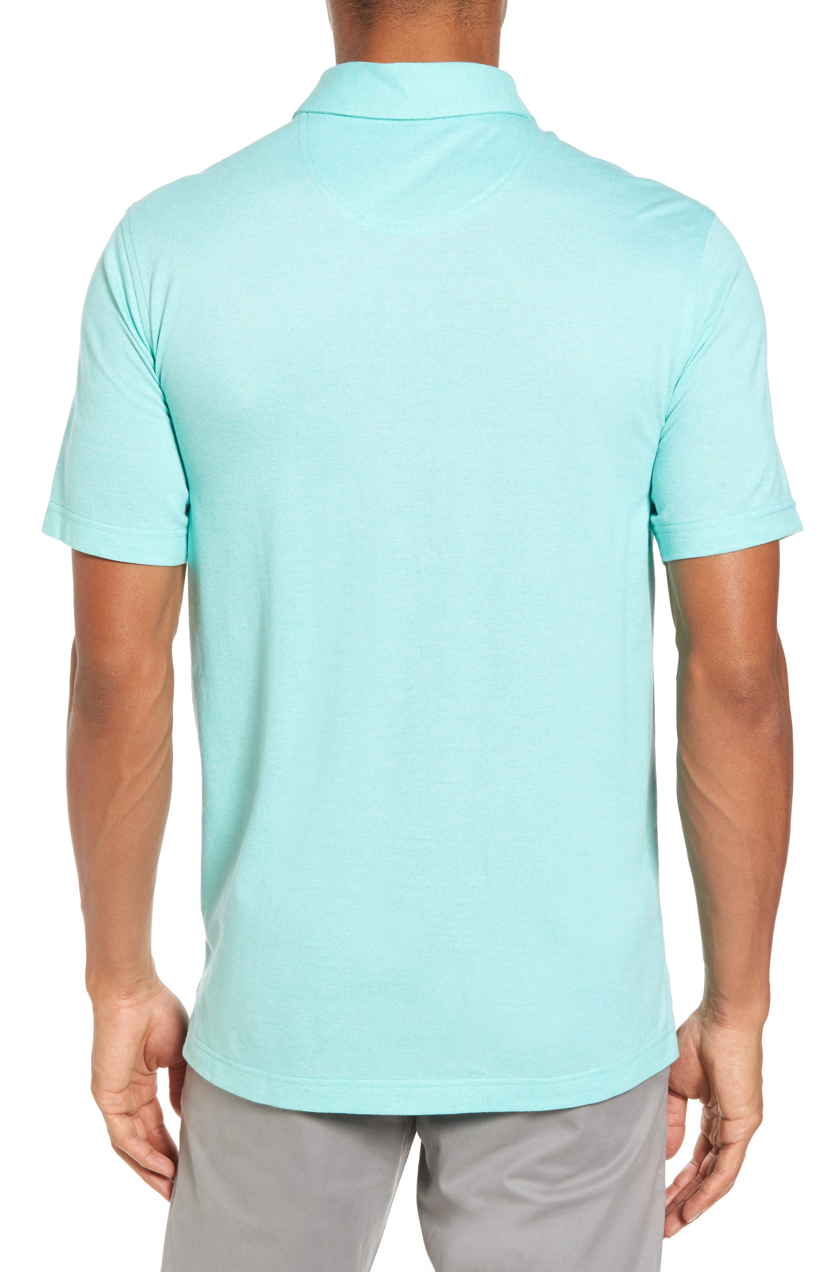 Regular Fit Polo,                             Alternate thumbnail 2, color,                             TEAL GLOSS