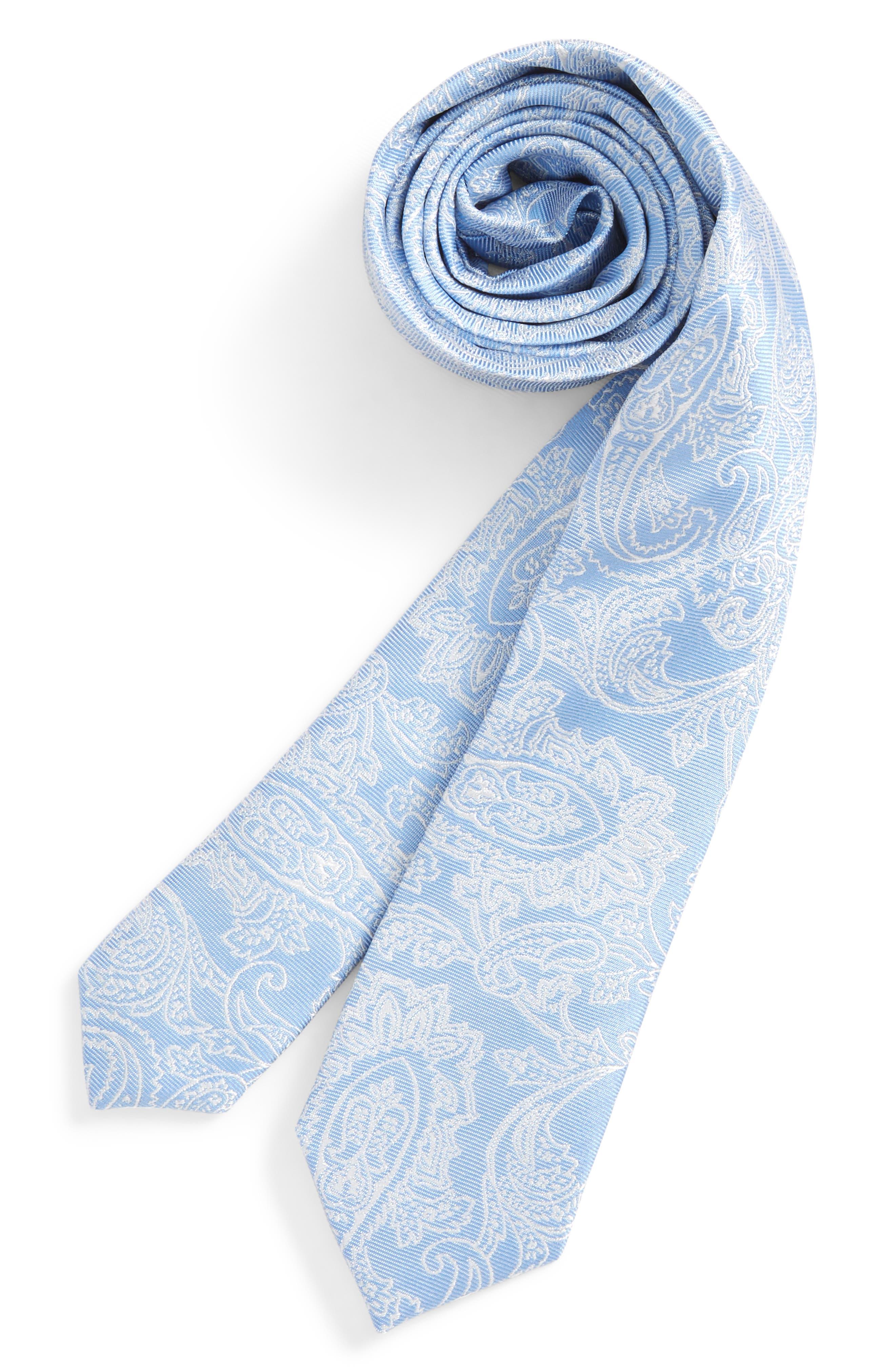 Paisley Drawing Silk Tie,                             Main thumbnail 1, color,                             455