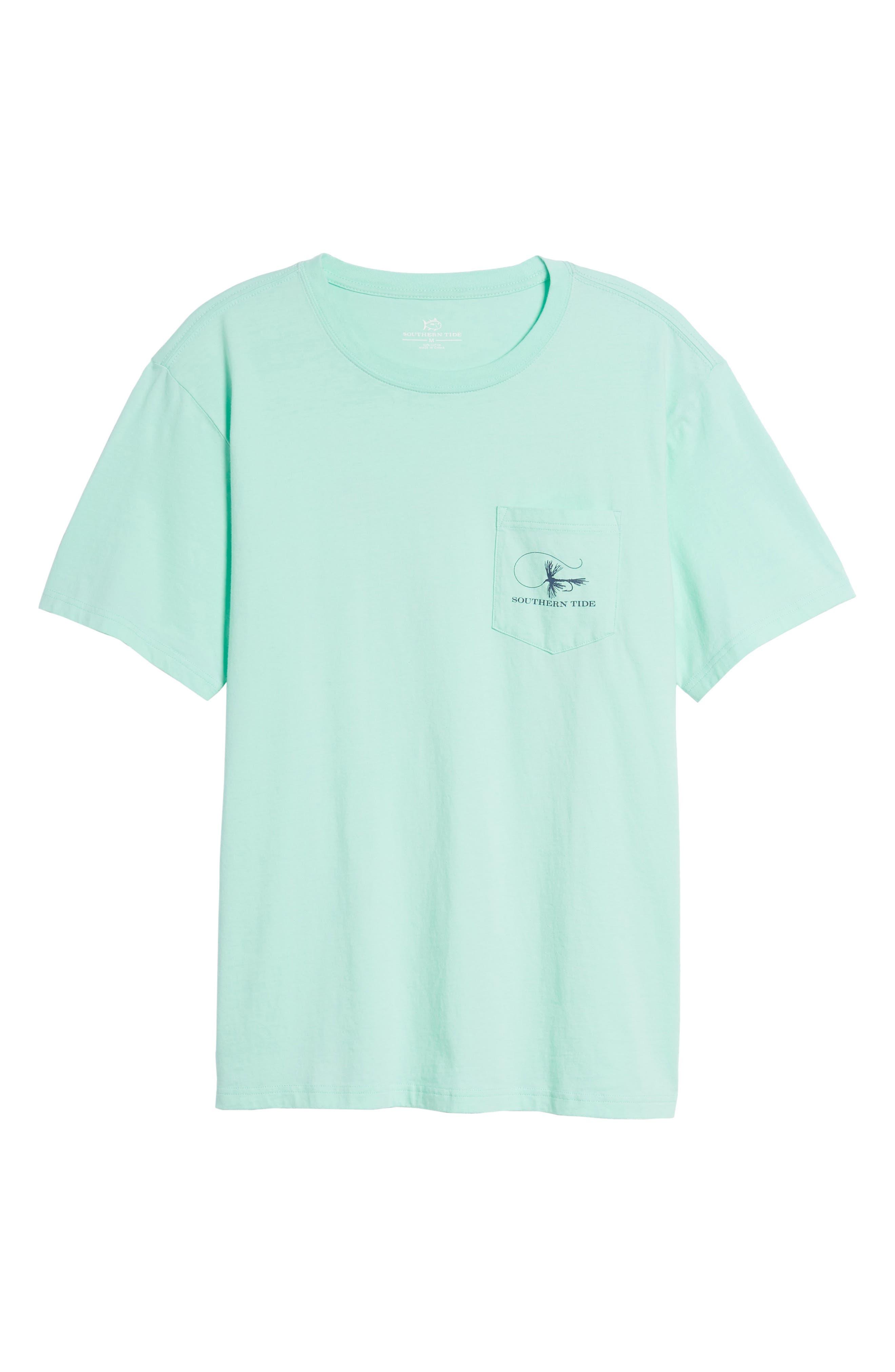 Fly Fishing Regular Fit Pocket T-Shirt,                             Alternate thumbnail 6, color,                             376