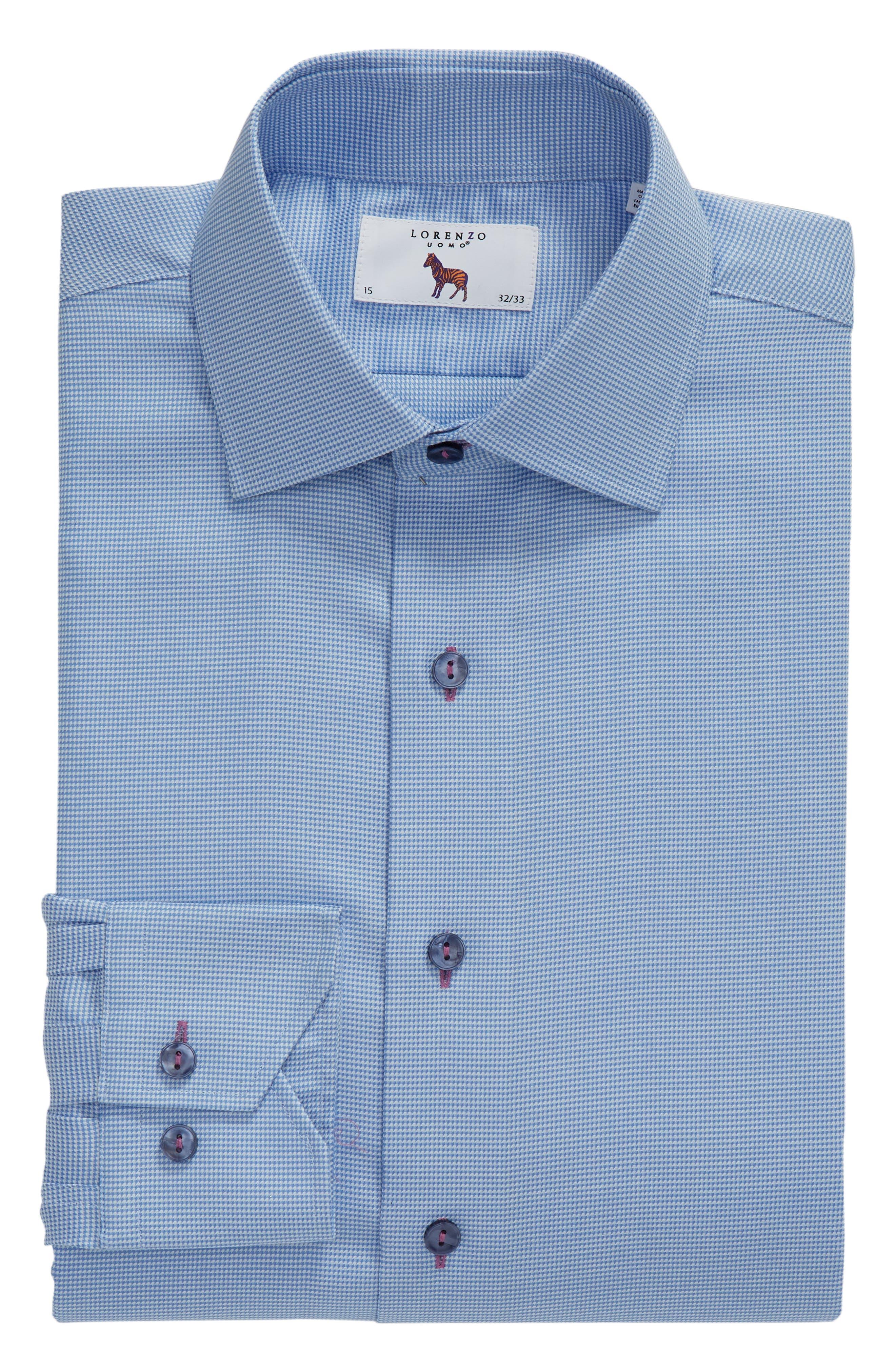 Regular Fit Check Dress Shirt,                             Alternate thumbnail 5, color,                             GREY