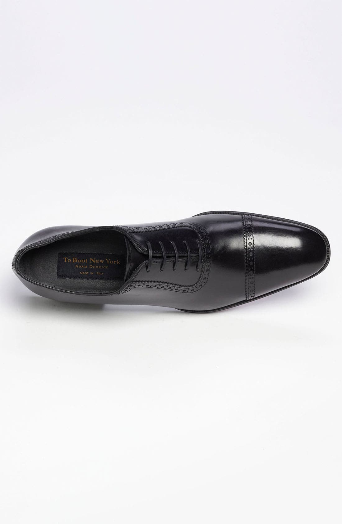 TO BOOT NEW YORK,                             'Warwick' Cap Toe Oxford,                             Alternate thumbnail 3, color,                             001