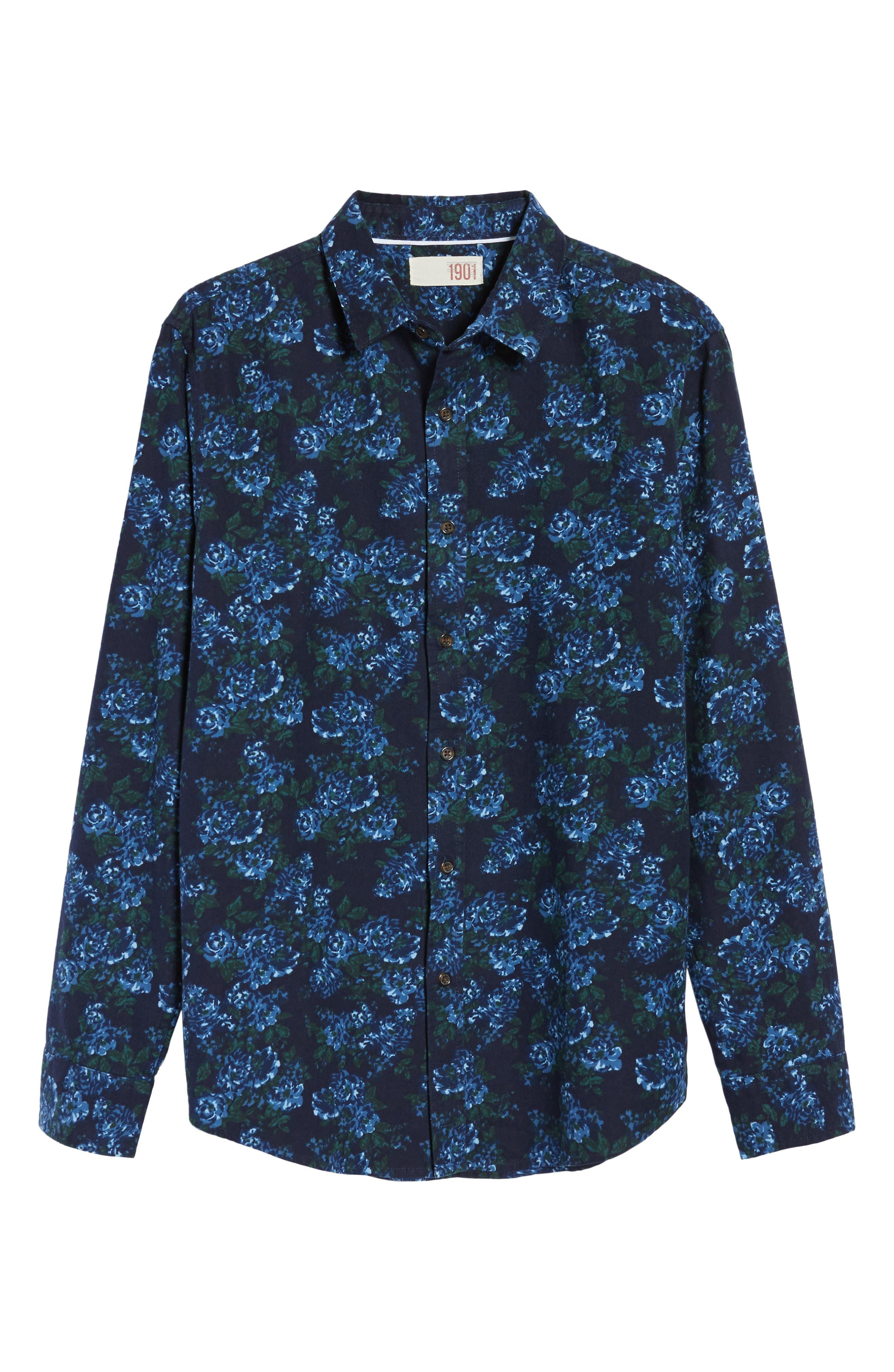 Print Flannel Shirt,                             Alternate thumbnail 18, color,