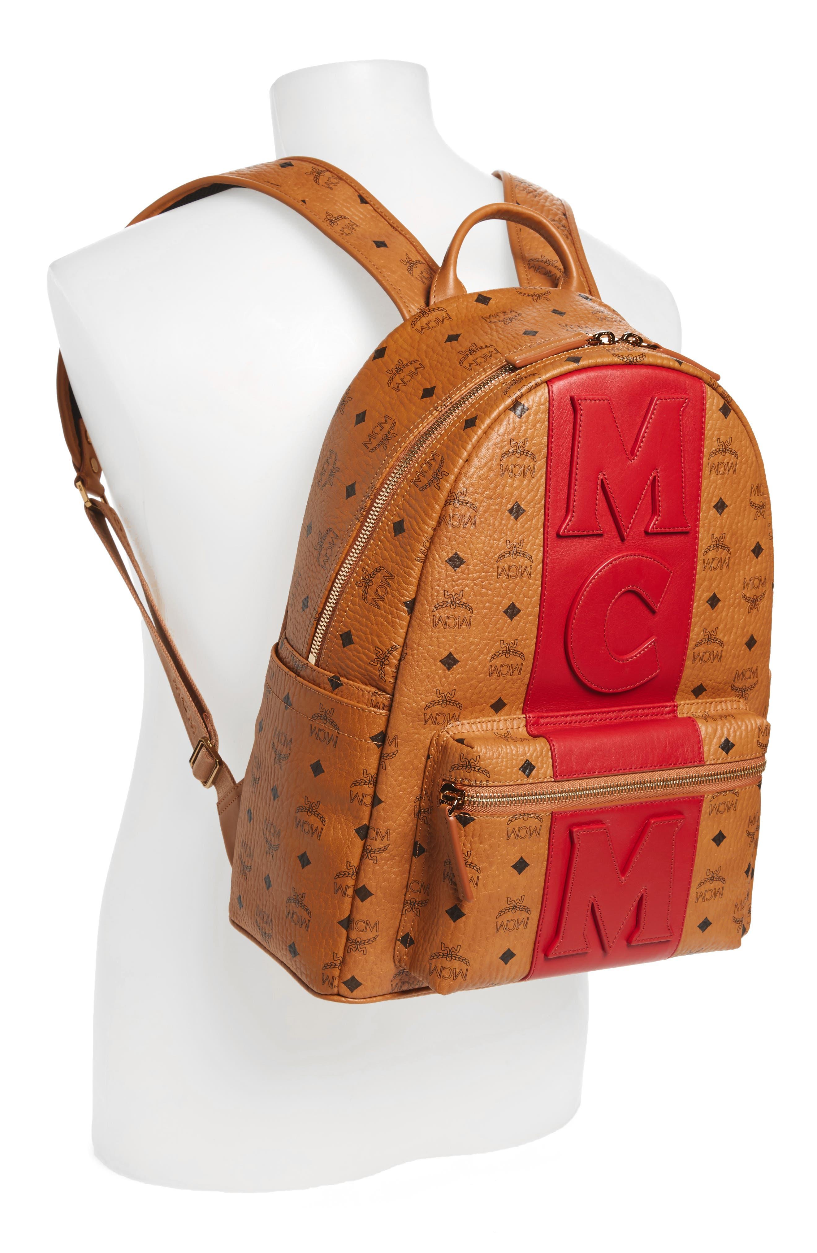 Stark Stripe Faux Leather Backpack,                             Alternate thumbnail 2, color,                             210