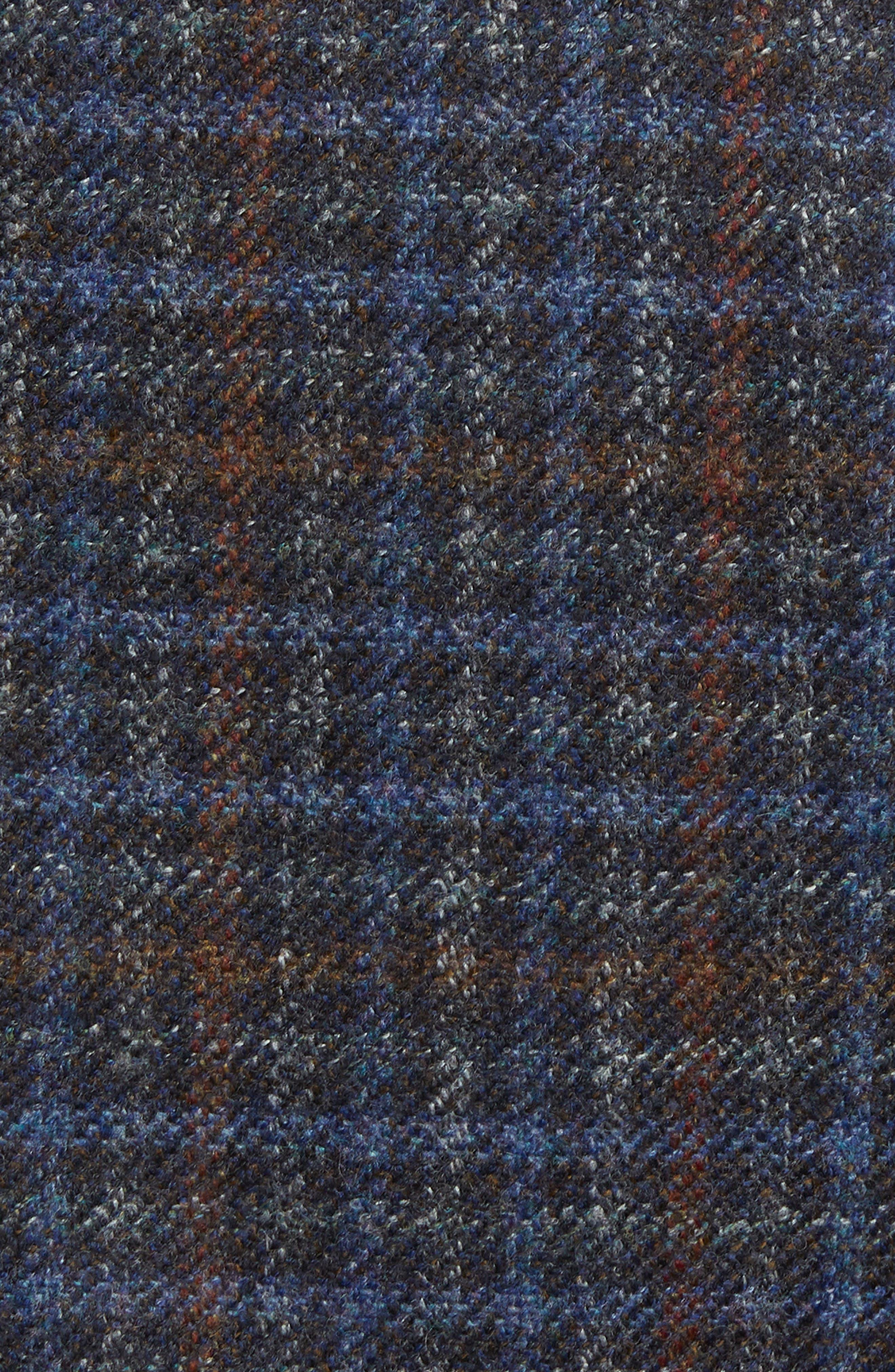 Bono 2 Classic Fit Check Wool & Cashmere Sport Coat,                             Alternate thumbnail 6, color,                             BURGUNDY