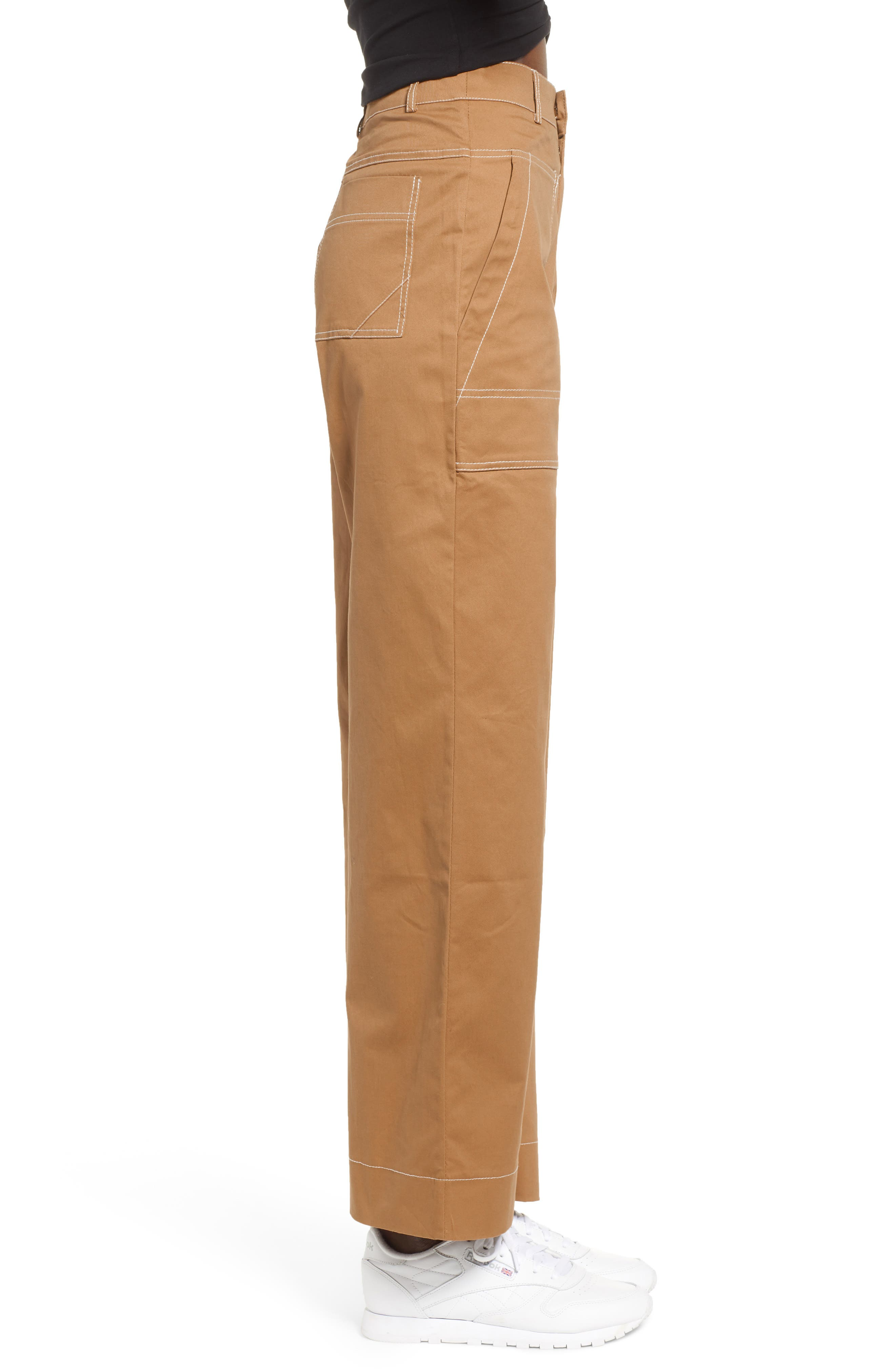 Ada Wide Leg Pants,                             Alternate thumbnail 3, color,                             250