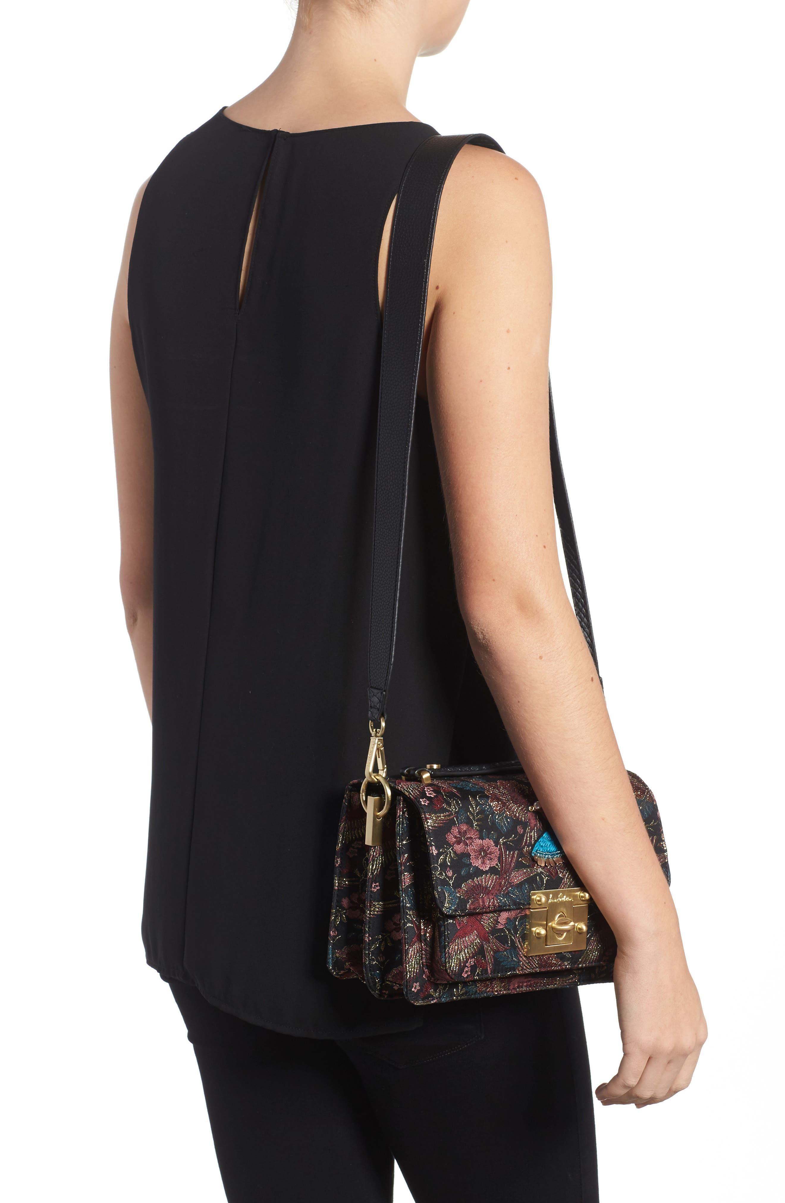 Gessica Jacquard Shoulder Bag,                             Alternate thumbnail 2, color,                             001