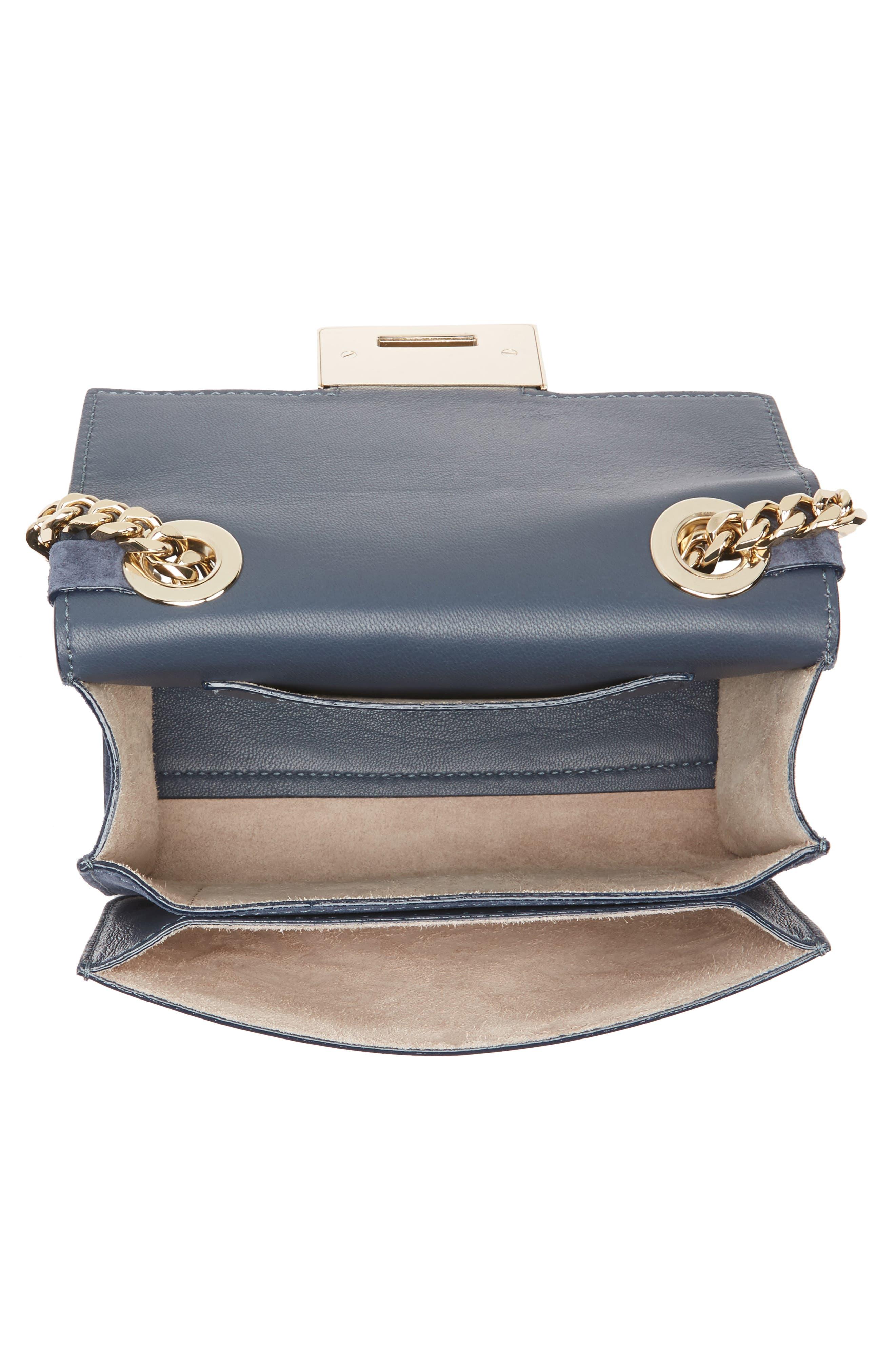 Mini Rebel Suede Crossbody Bag,                             Alternate thumbnail 4, color,                             400