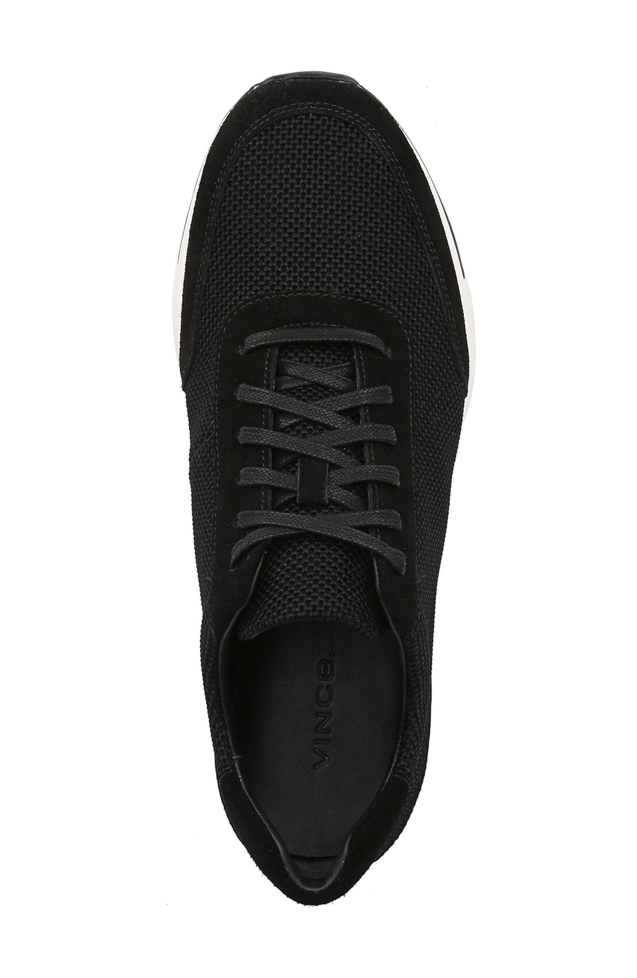 Payton Mesh Sneaker,                             Alternate thumbnail 5, color,                             BLACK