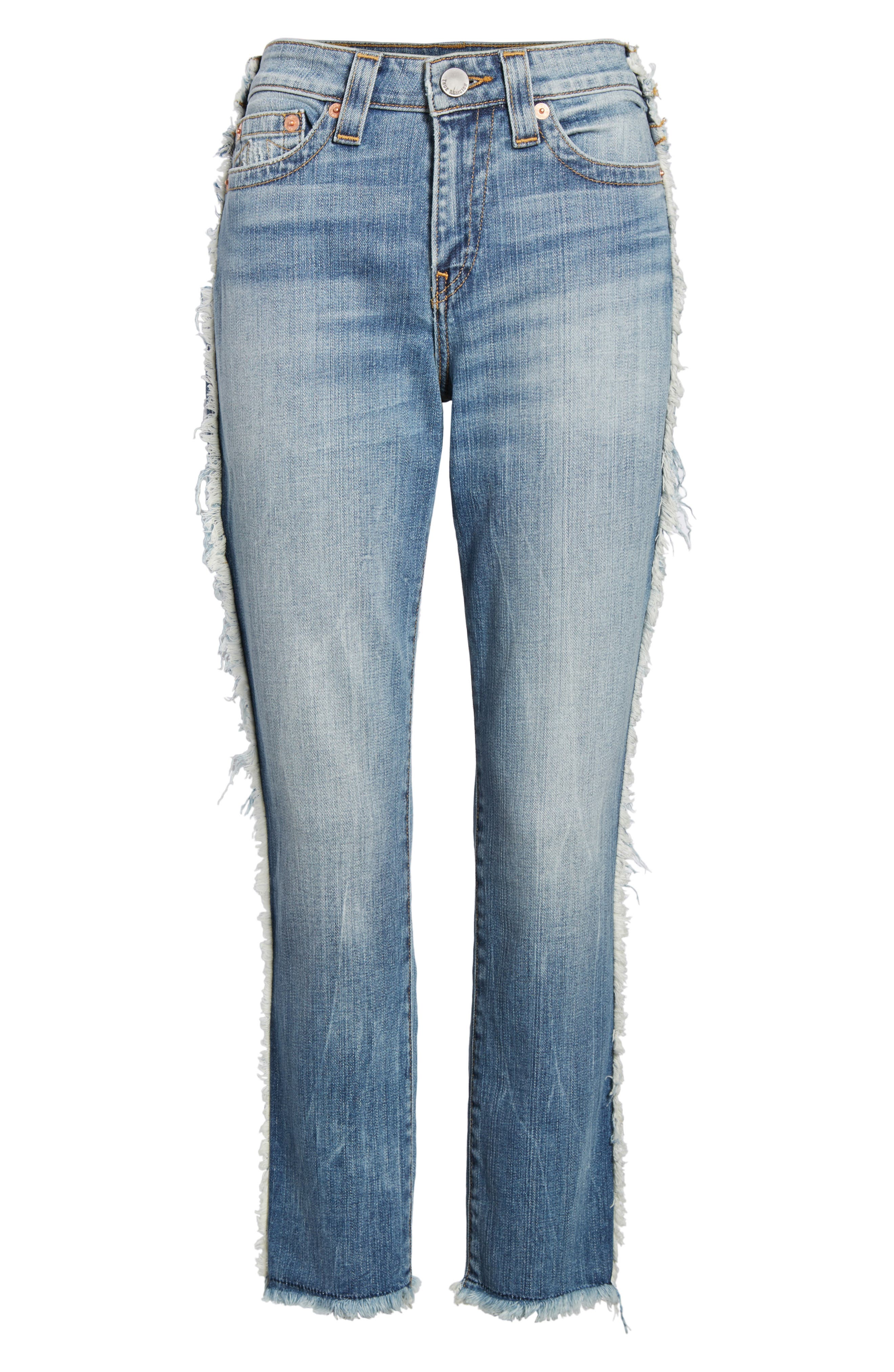 Colette High Waist Tapered Skinny Jeans,                             Alternate thumbnail 7, color,                             401