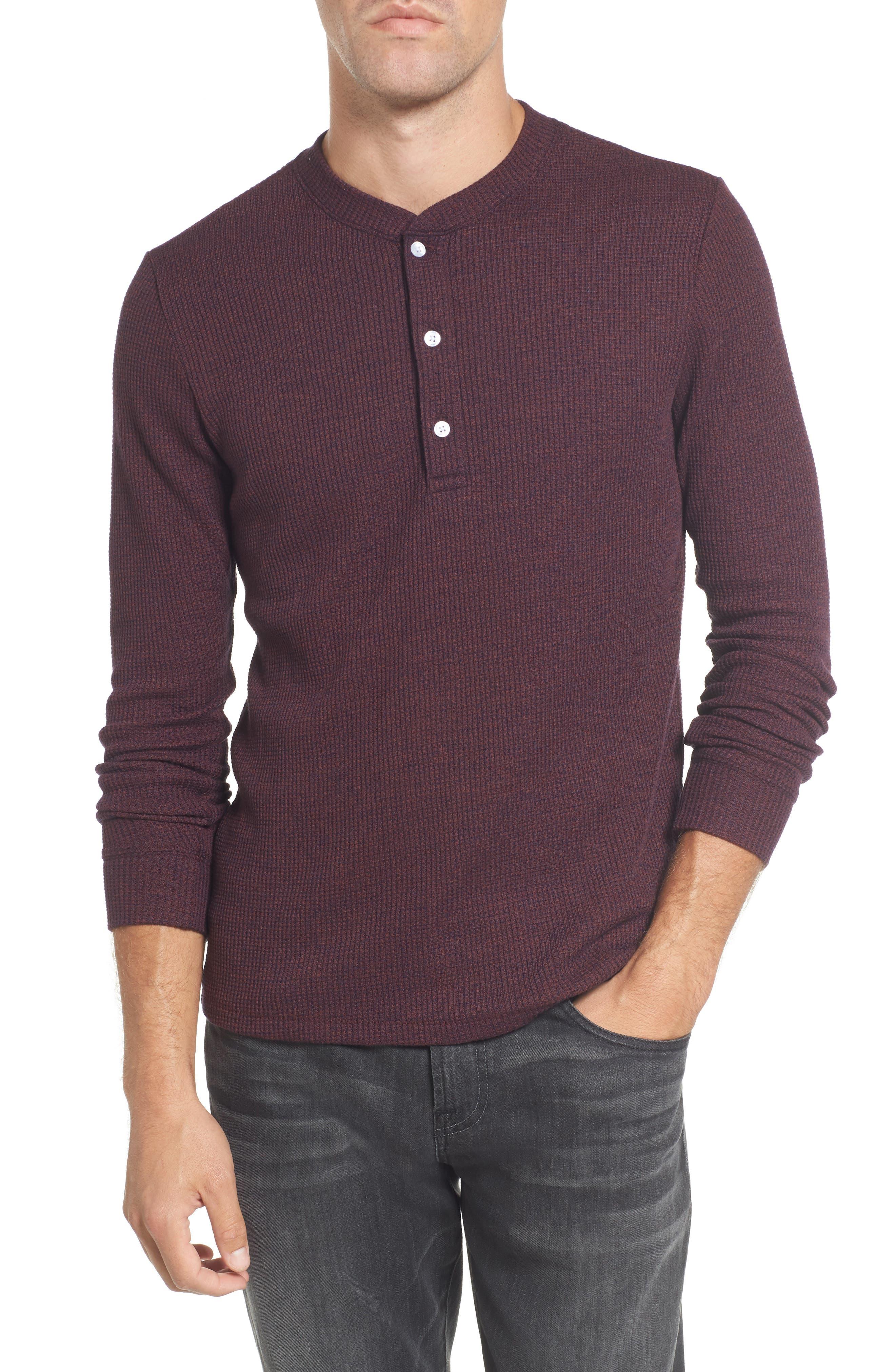 Slim Fit Long Sleeve Henley Shirt,                             Main thumbnail 3, color,