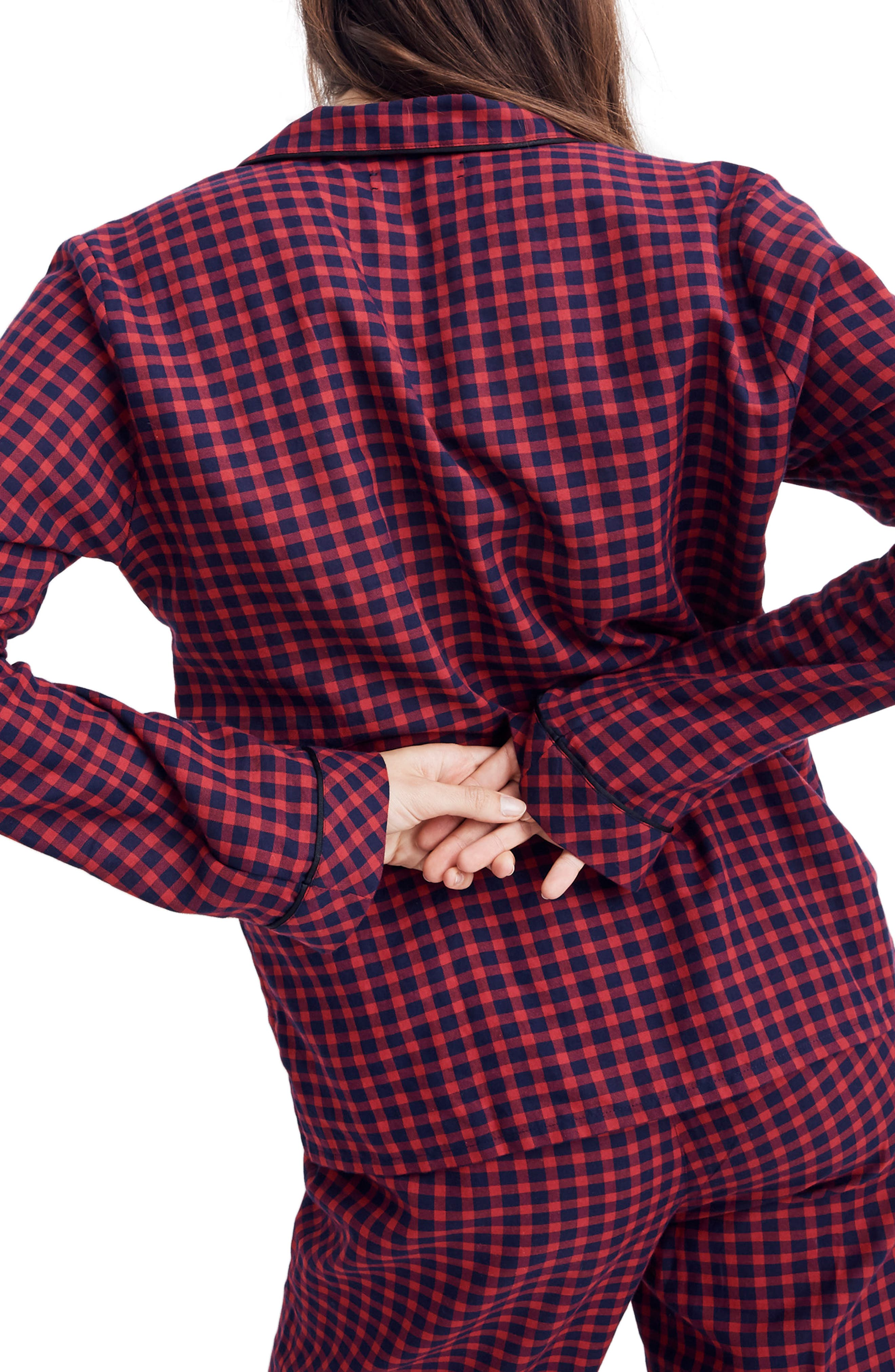 Bedtime Long Sleeve Pajama Top,                             Alternate thumbnail 2, color,                             CRANBERRY