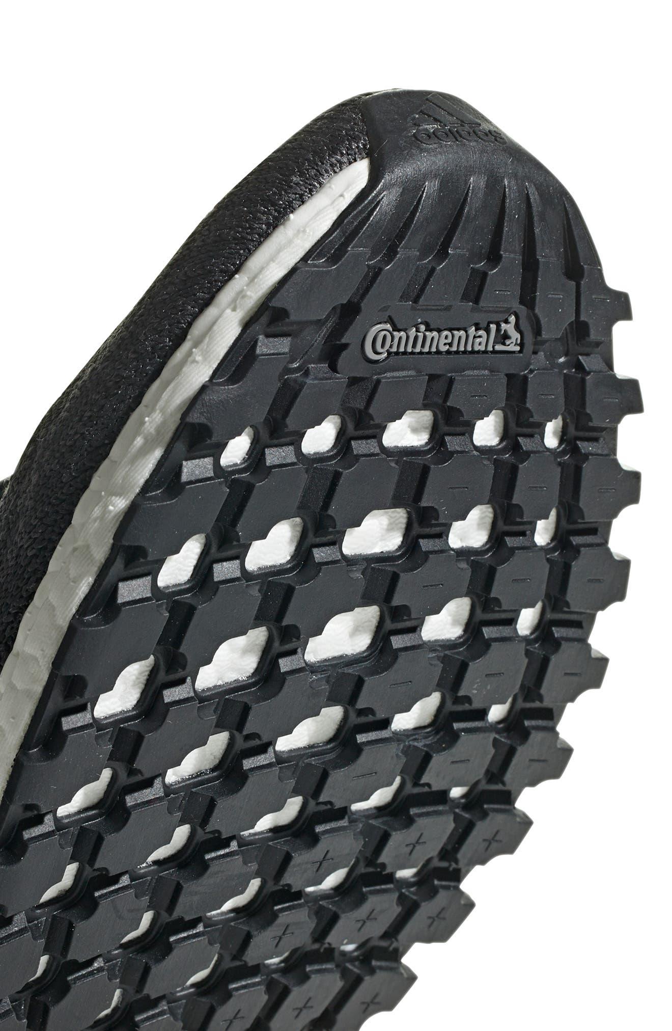 UltraBoost All Terrain Water Resistant Running Shoe,                             Alternate thumbnail 7, color,                             CARBON / CORE BLACK / WHITE