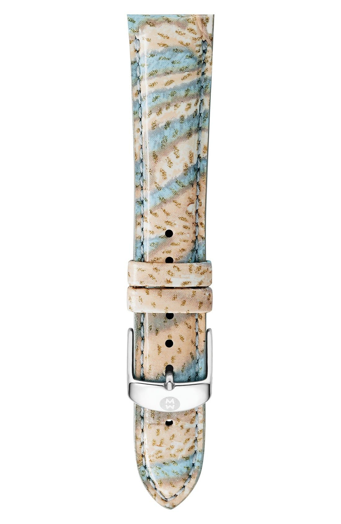 16mm Leather Watch Strap,                             Main thumbnail 4, color,