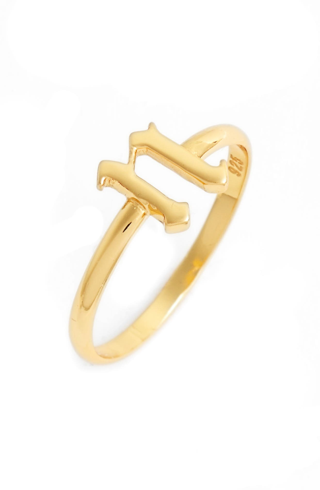 Gothic Initial Ring,                             Main thumbnail 25, color,