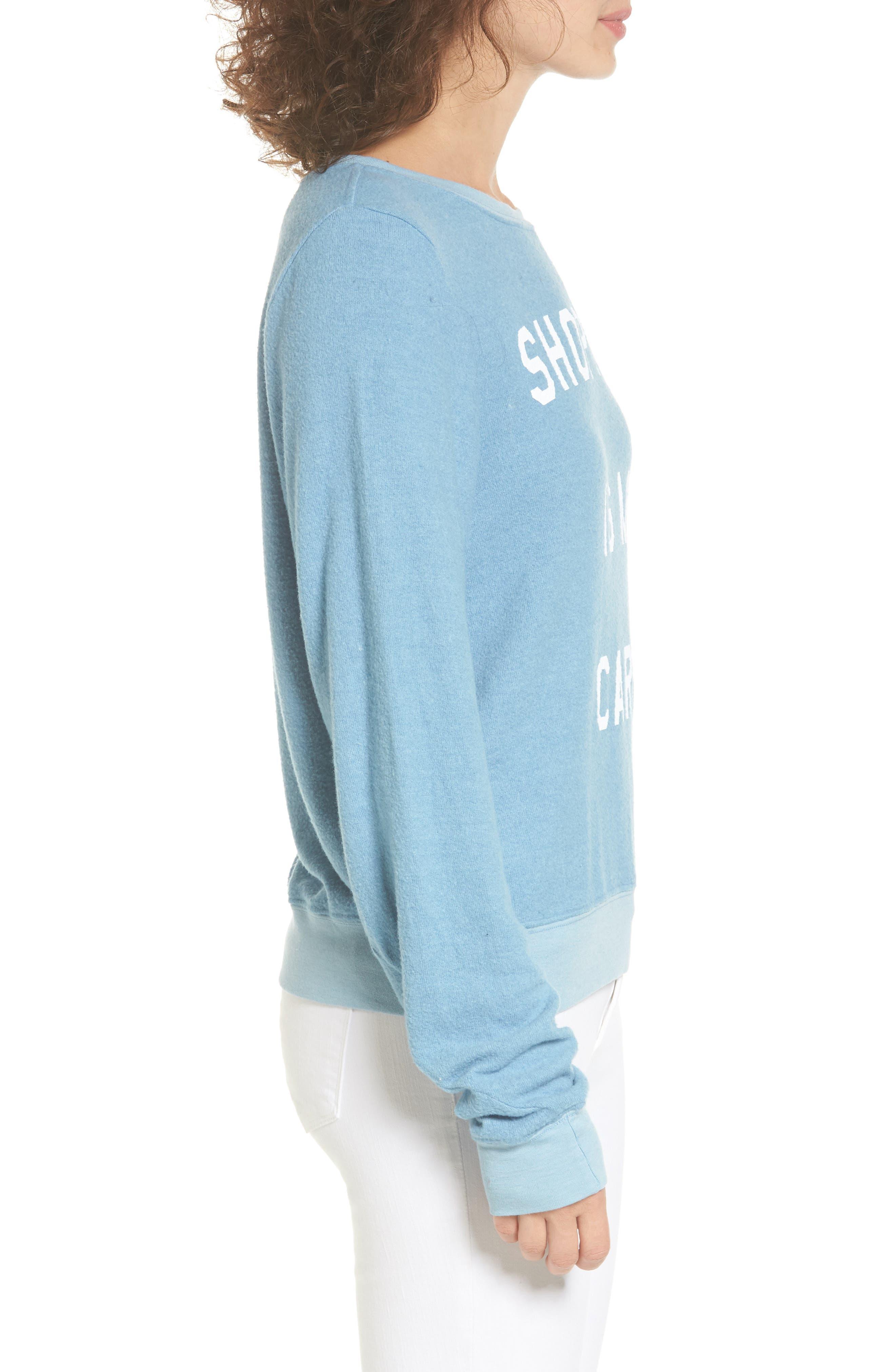 Shopping is My Cardio Sweatshirt,                             Alternate thumbnail 3, color,                             400