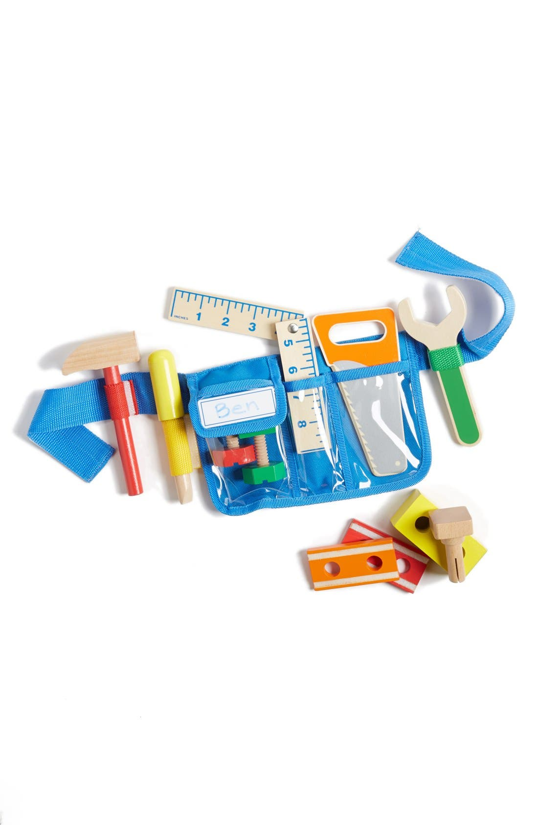 MELISSA & DOUG Deluxe Tool Belt Set, Main, color, BLUE