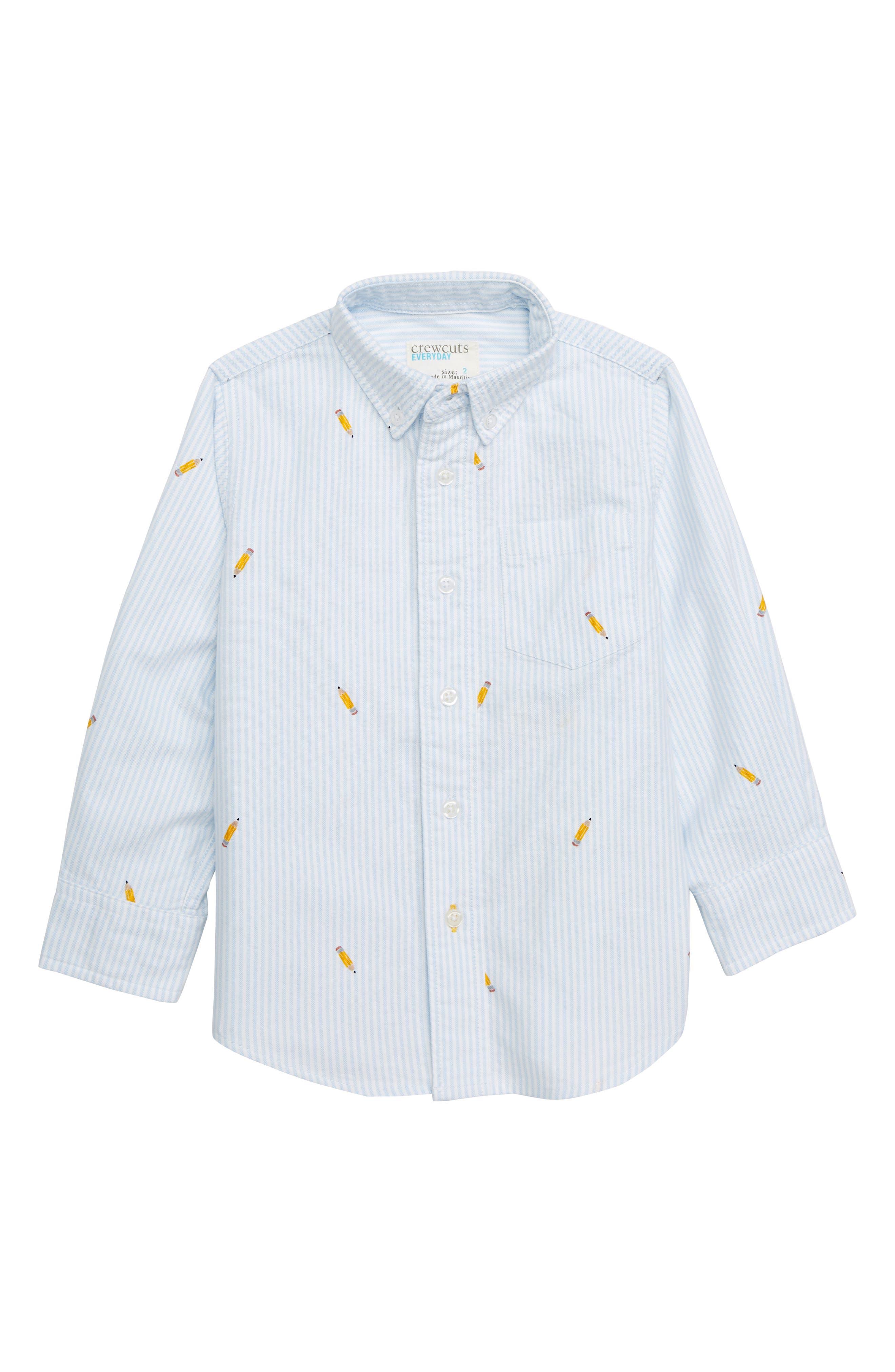 Critter Oxford Shirt,                             Main thumbnail 1, color,                             BLUE MULTI