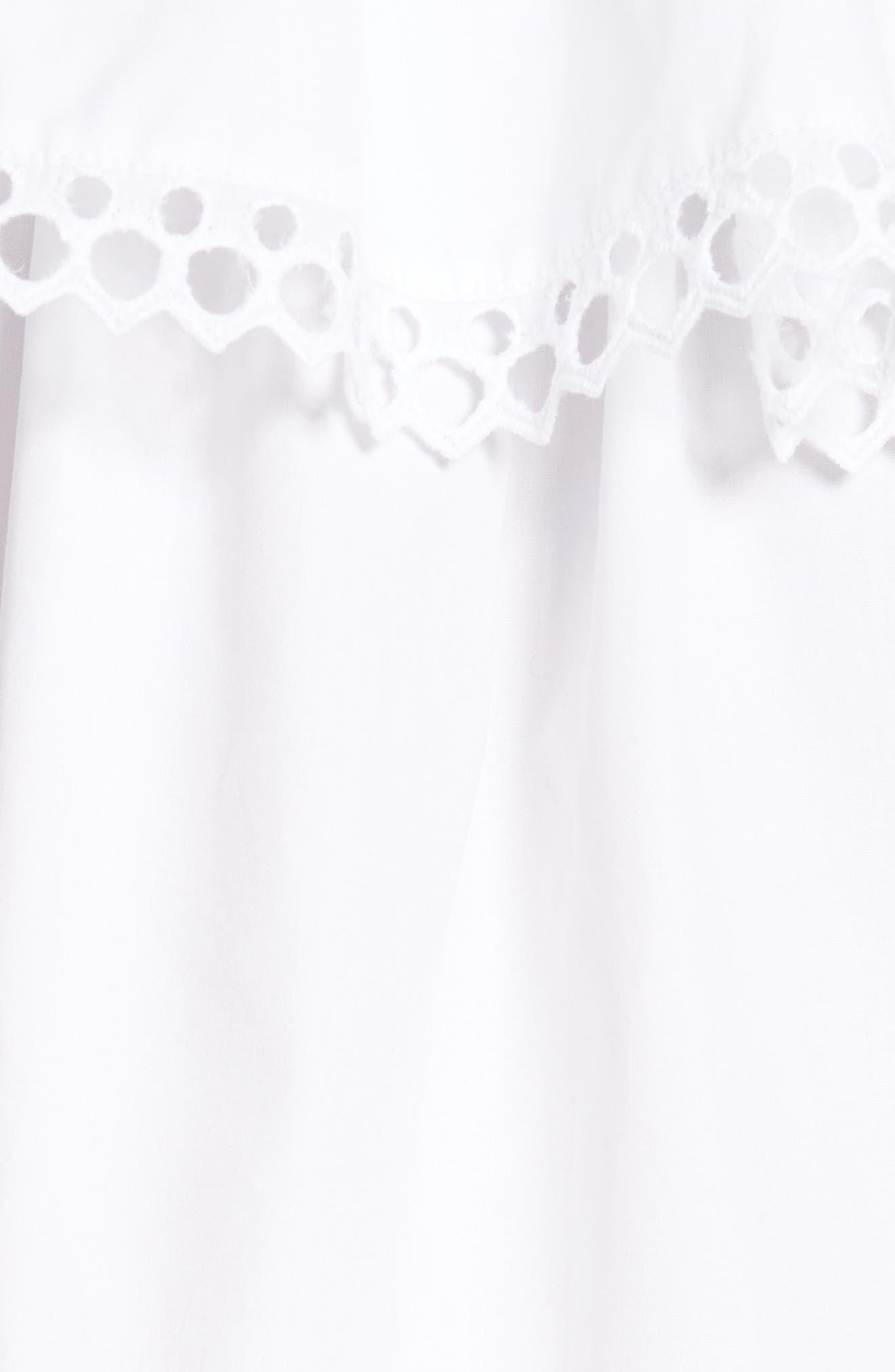 Cirque Eyelet Cotton Top,                             Alternate thumbnail 5, color,                             100