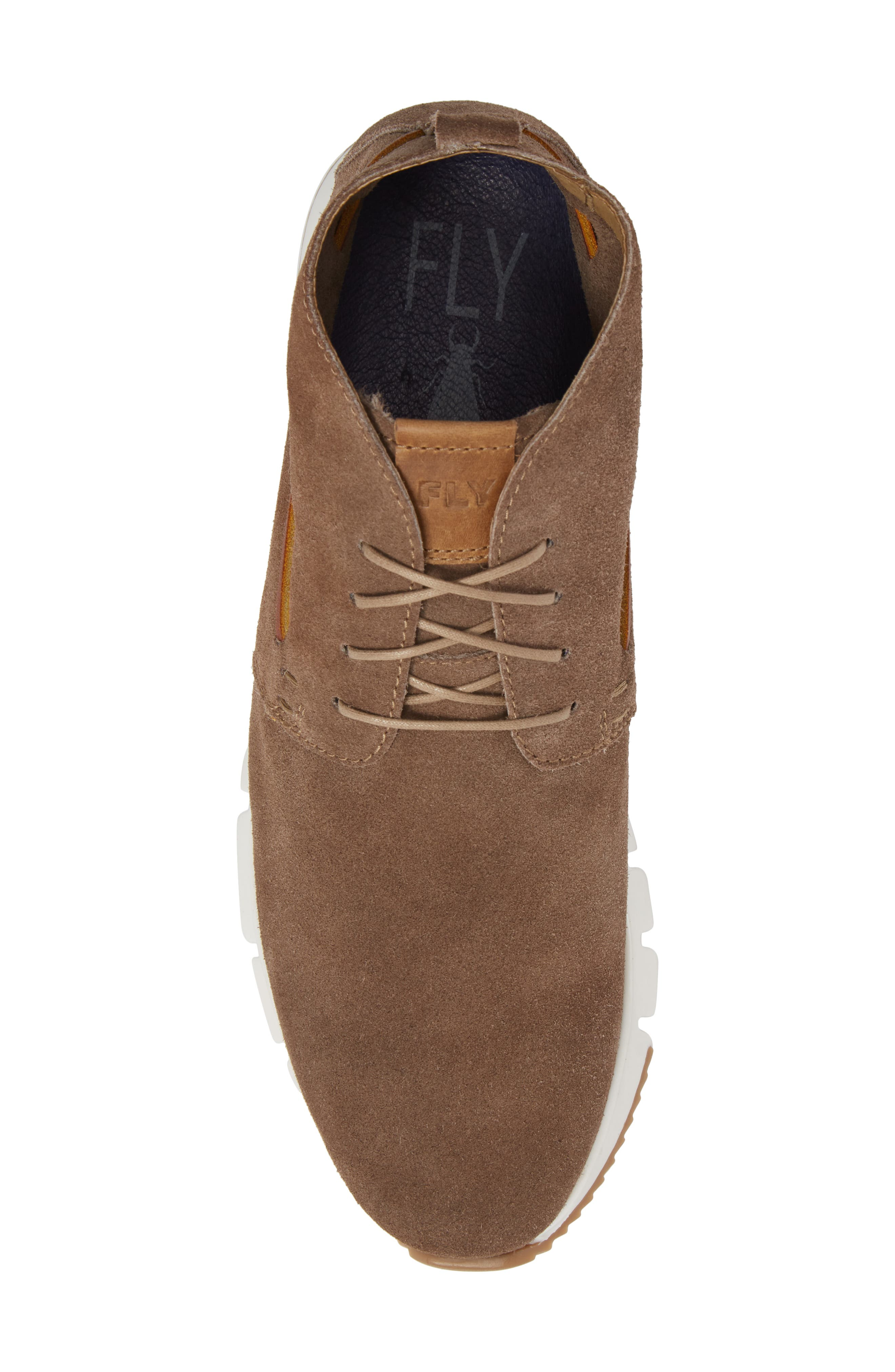 Sky High Top Sneaker,                             Alternate thumbnail 5, color,                             TAUPE SUEDE
