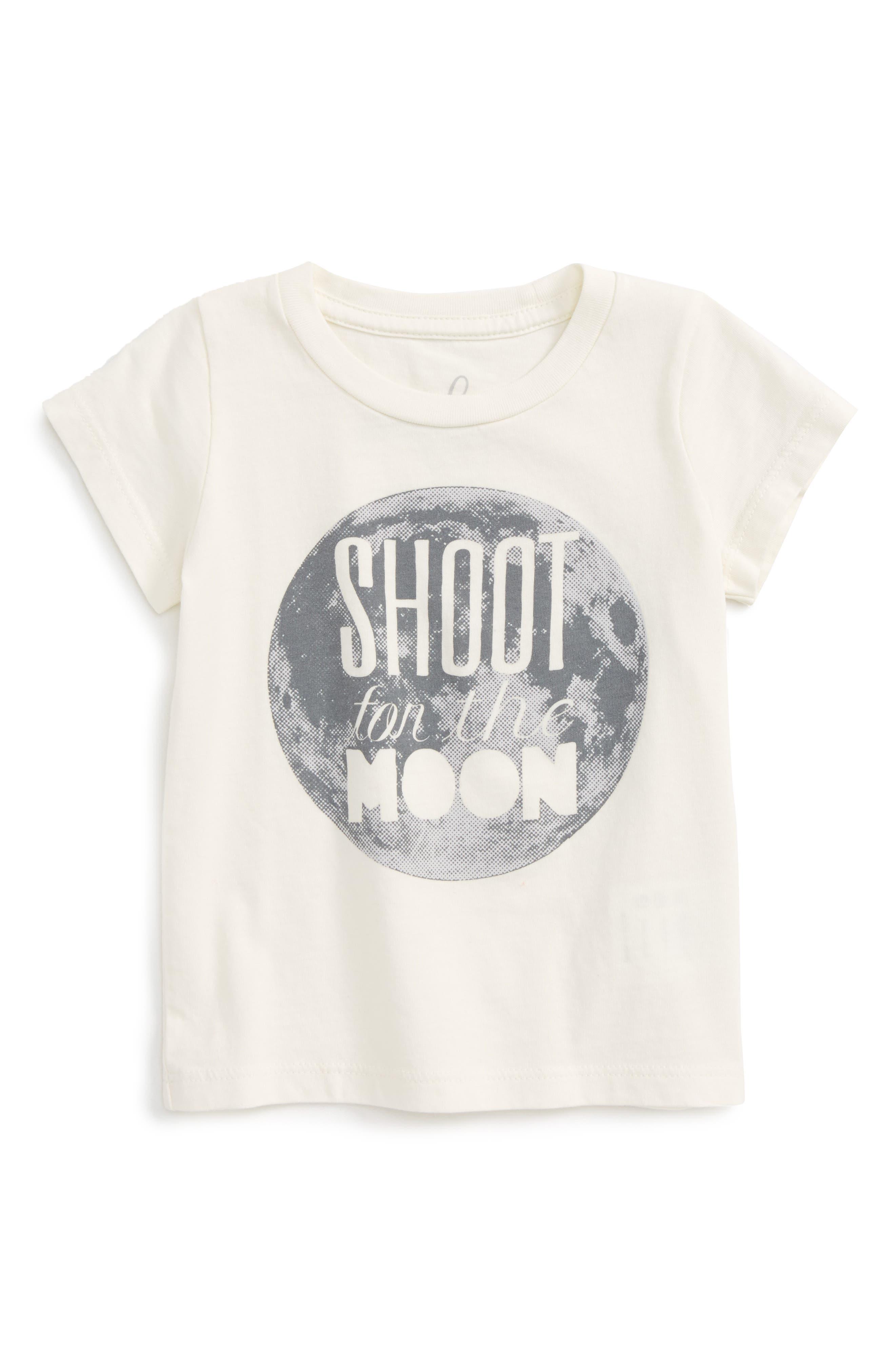 Peek Shoot For The Moon Graphic T-Shirt,                             Main thumbnail 1, color,                             255