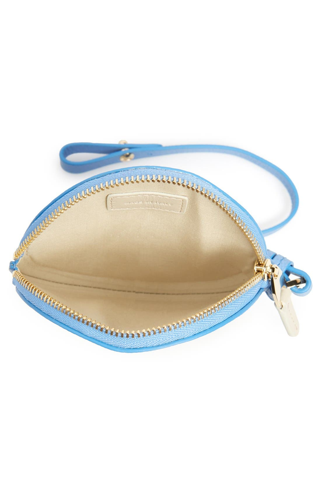 Circle Leather Coin Purse,                             Alternate thumbnail 14, color,