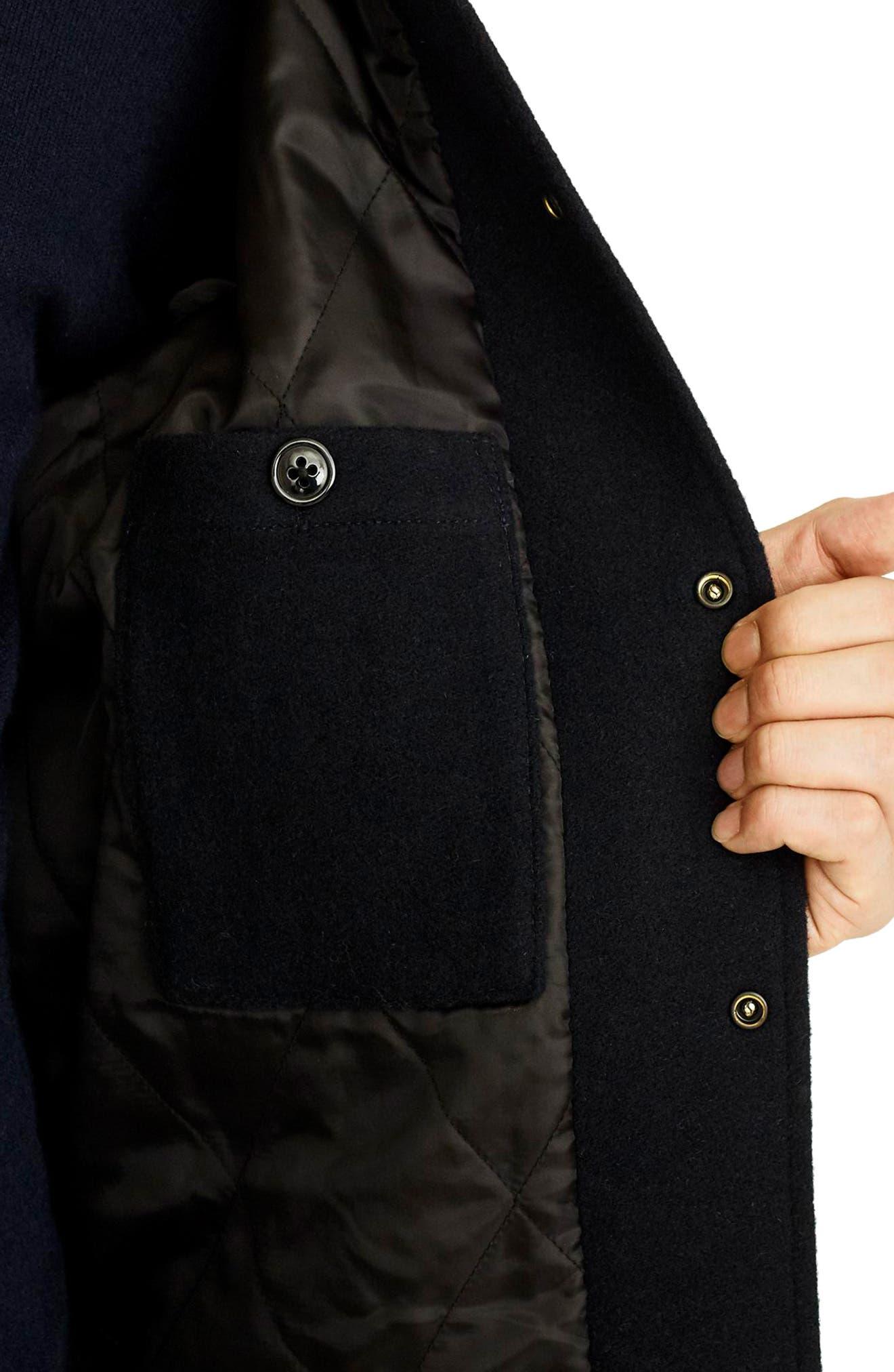 Letterman Wool Blend Jacket,                             Alternate thumbnail 4, color,                             DEEPEST NAVY