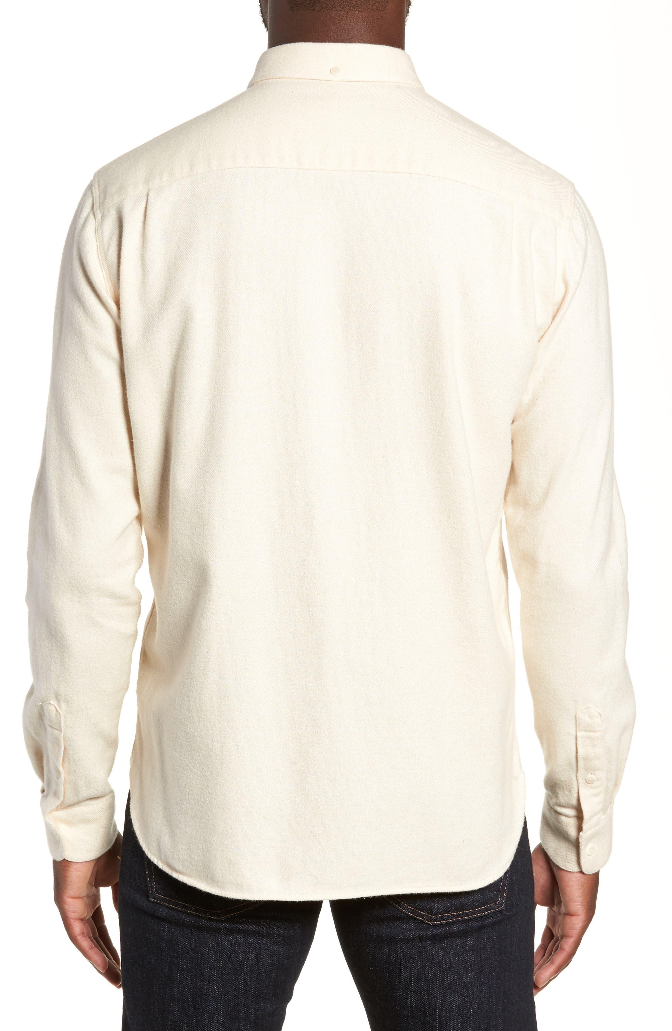 Marl Flannel Shirt,                             Alternate thumbnail 3, color,                             ECRU