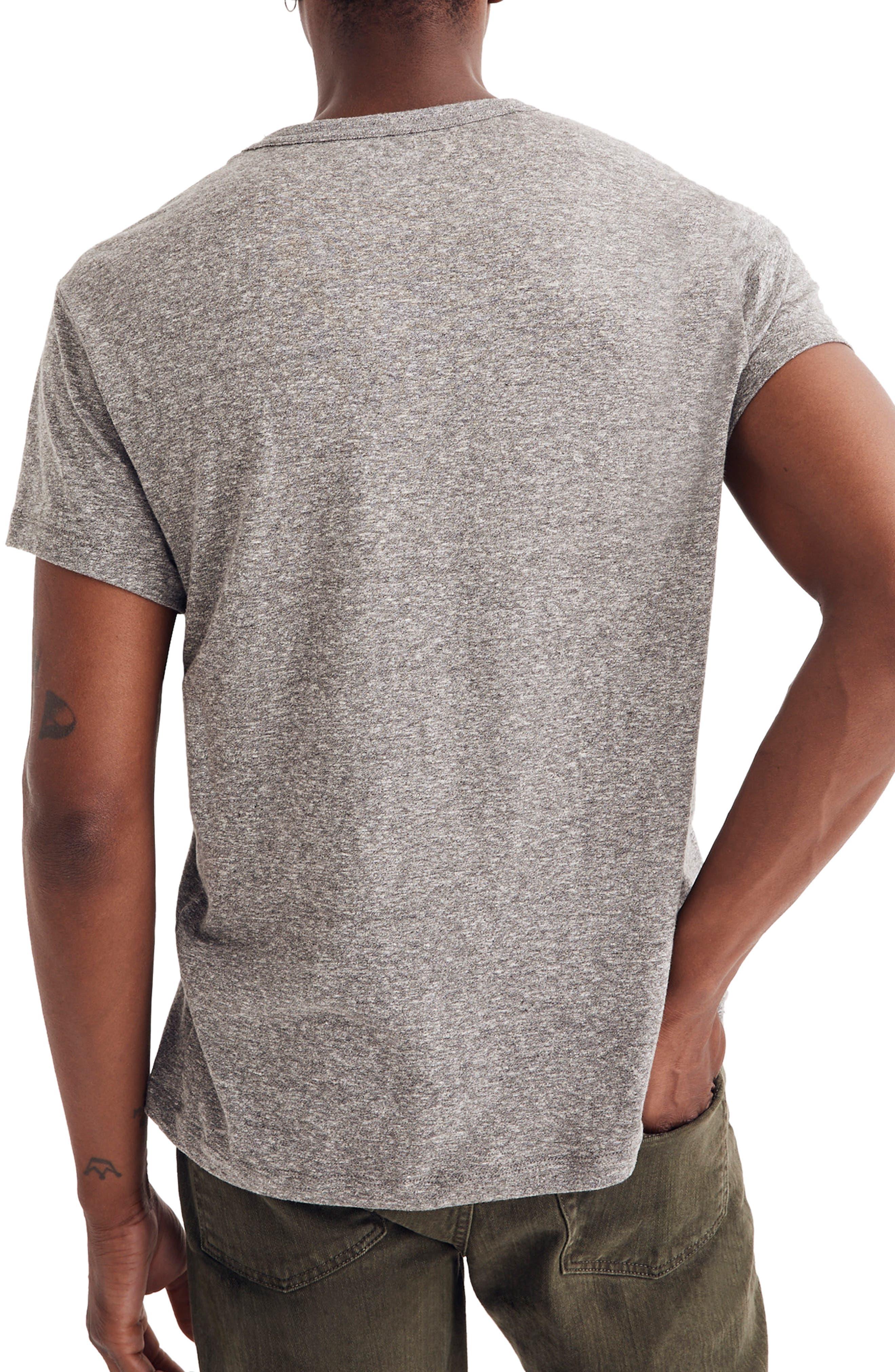 Pocket T-Shirt,                             Alternate thumbnail 2, color,                             HEATHER GREY