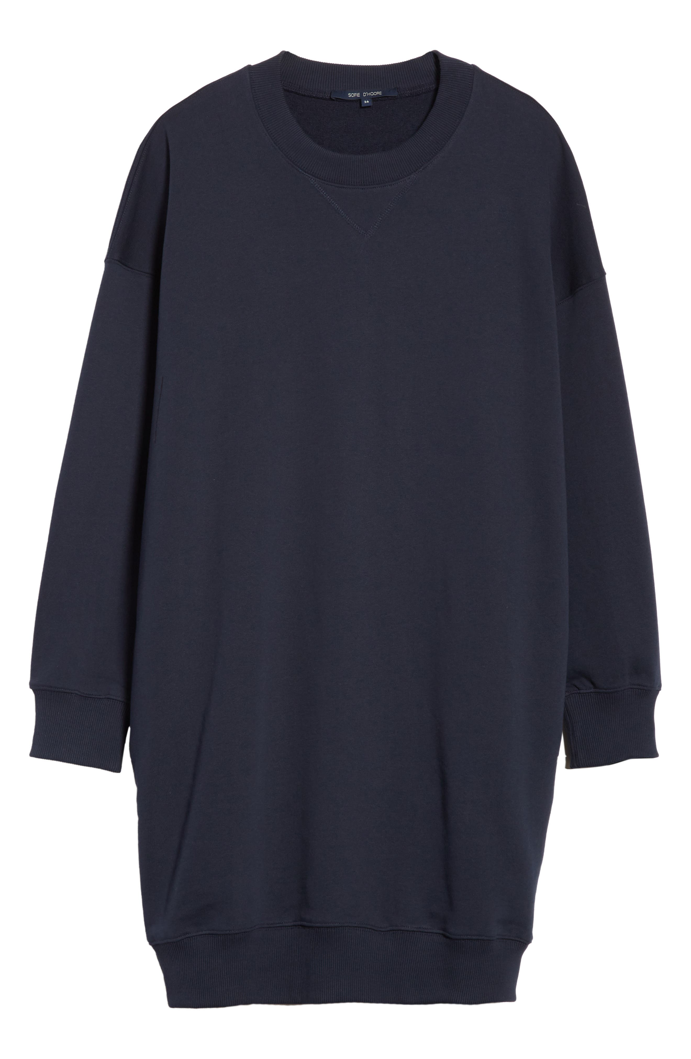 Sweatshirt Dress,                             Alternate thumbnail 6, color,                             410