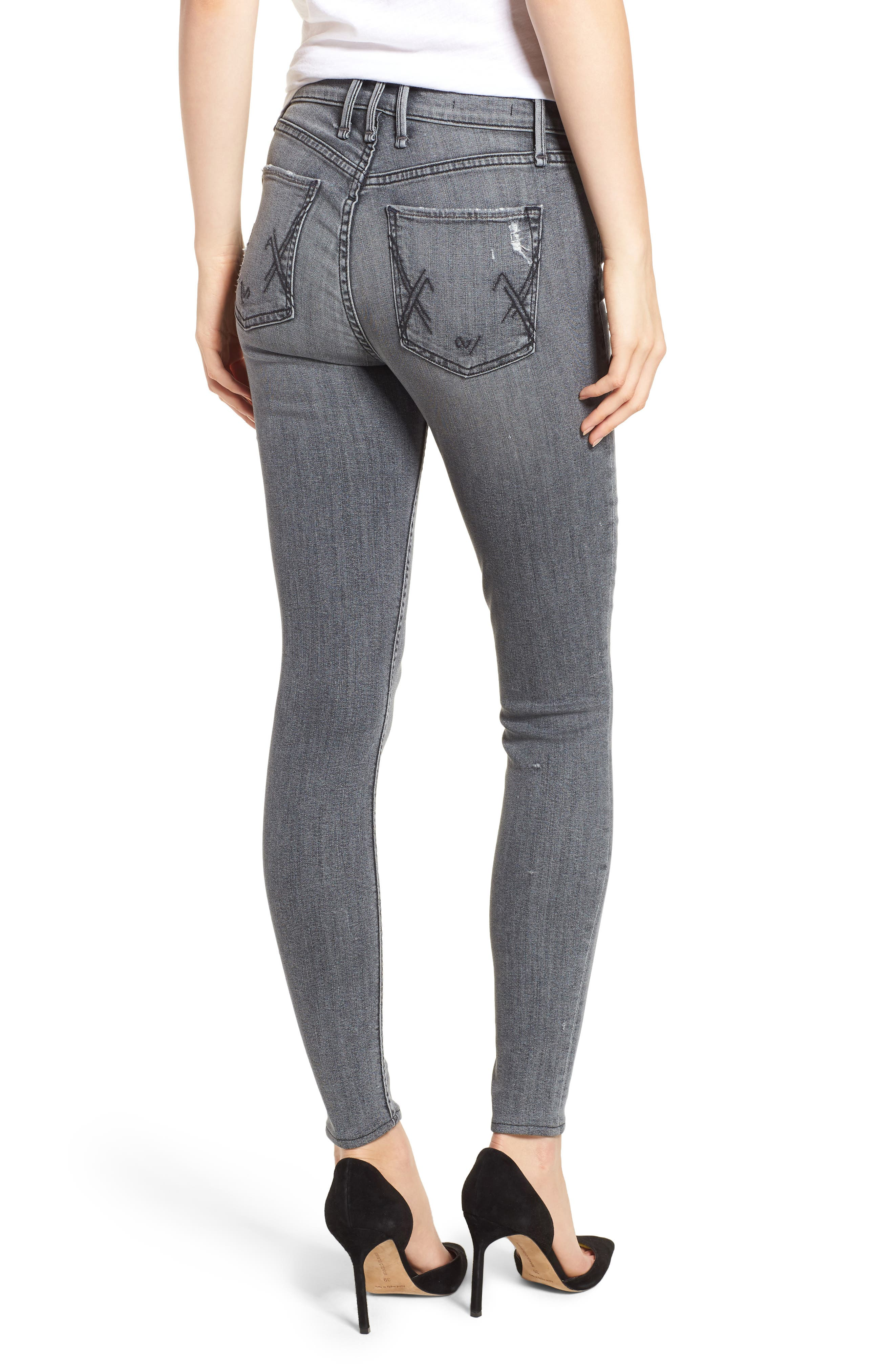 Newton High Waist Skinny Jeans,                             Alternate thumbnail 2, color,                             021