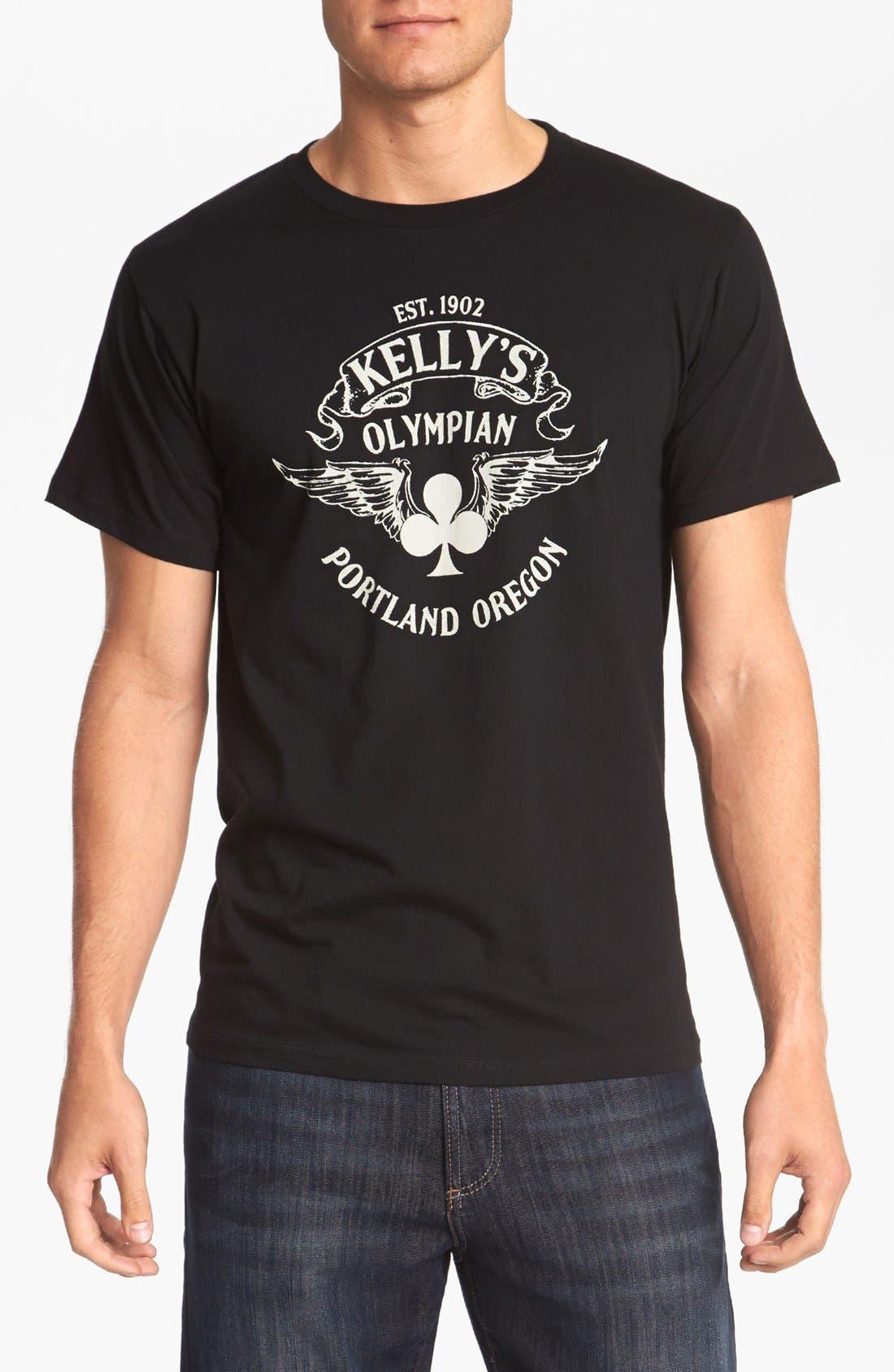 HORSES CUT SHOP,                             'Kelly's Olympian' T-Shirt,                             Main thumbnail 1, color,                             001