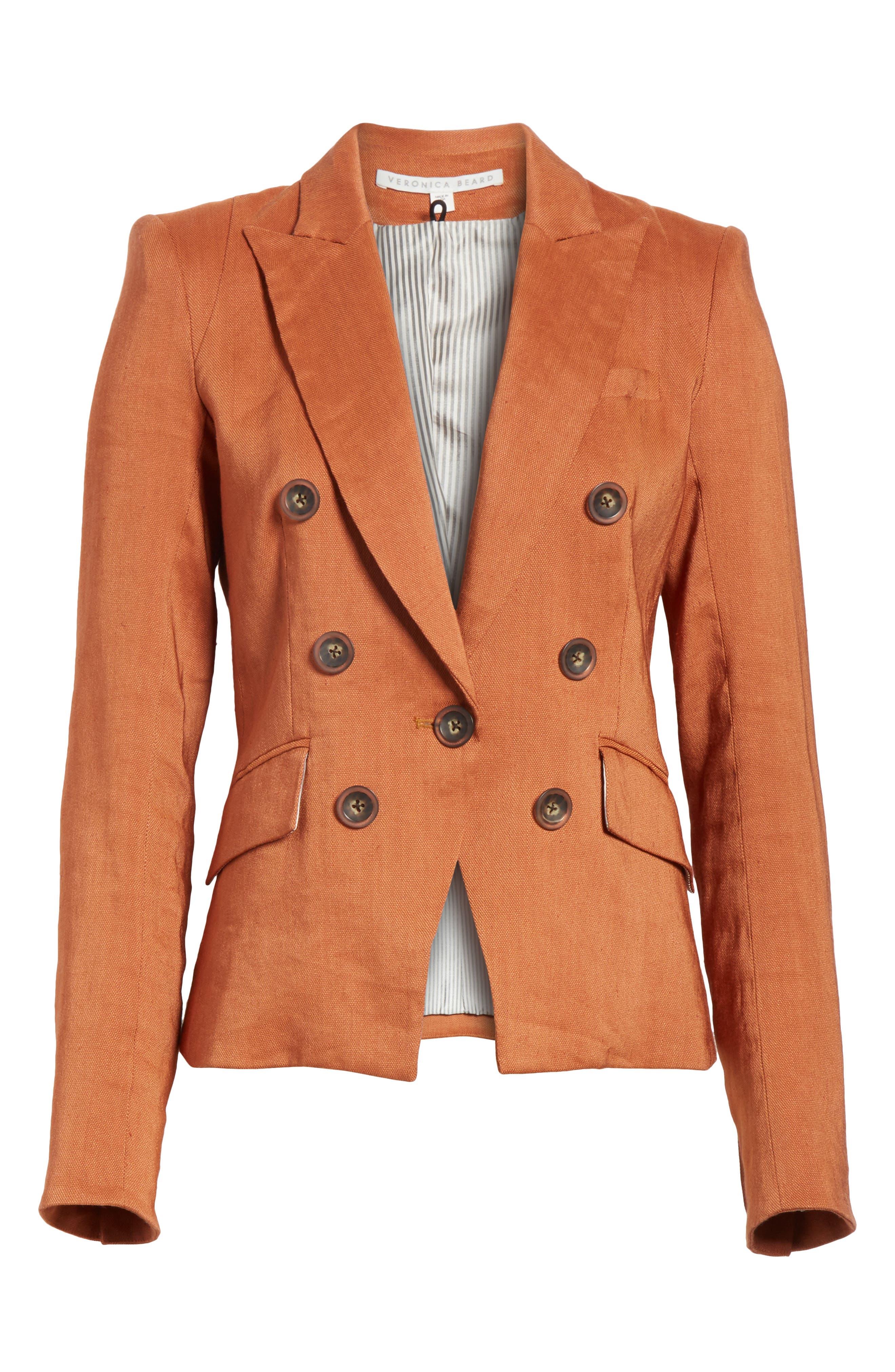 VERONICA BEARD Diego Linen Blend Dickey Jacket, Main, color, 821