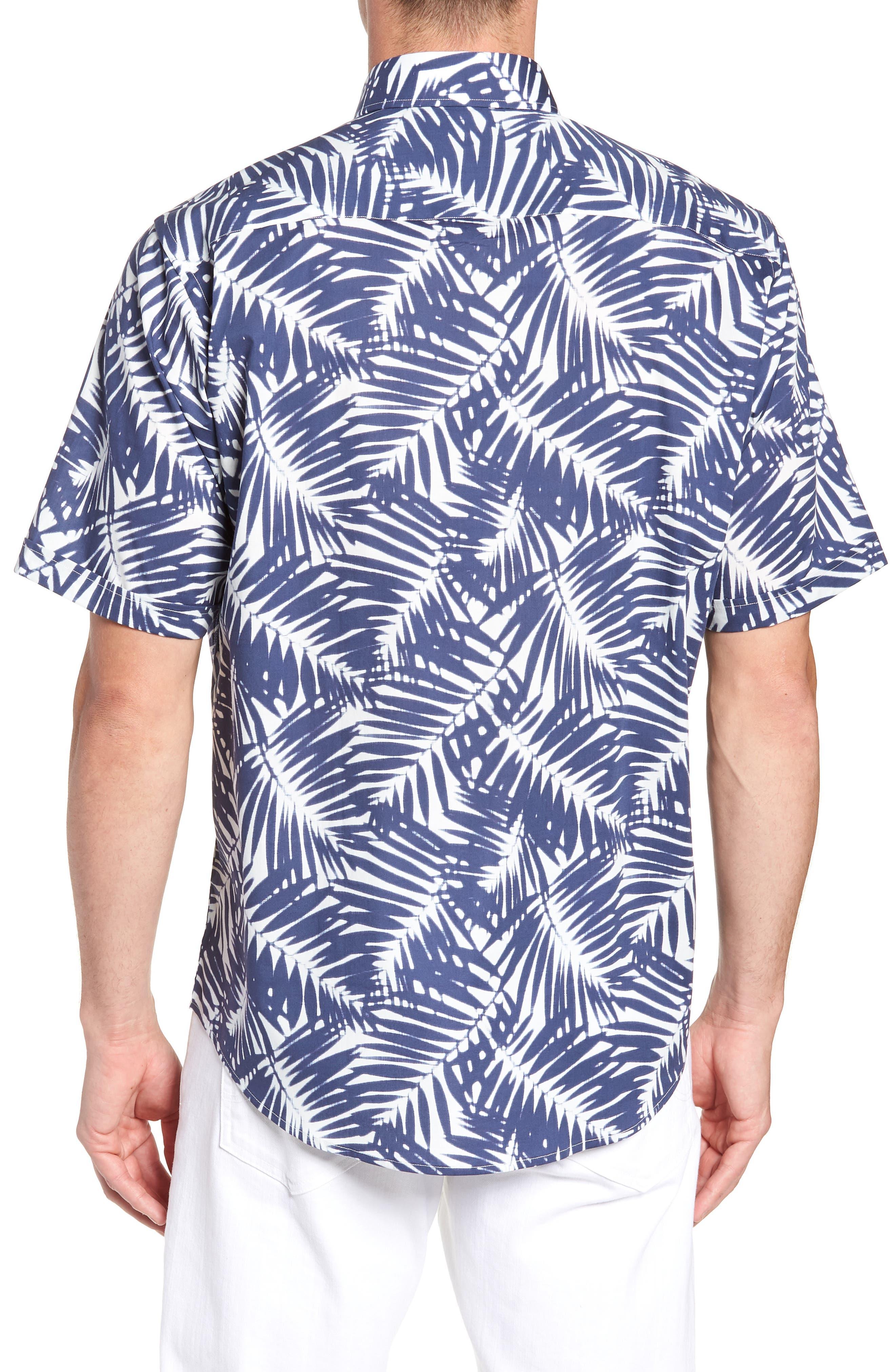 Indigo Palms Classic Fit Sport Shirt,                             Alternate thumbnail 3, color,                             411
