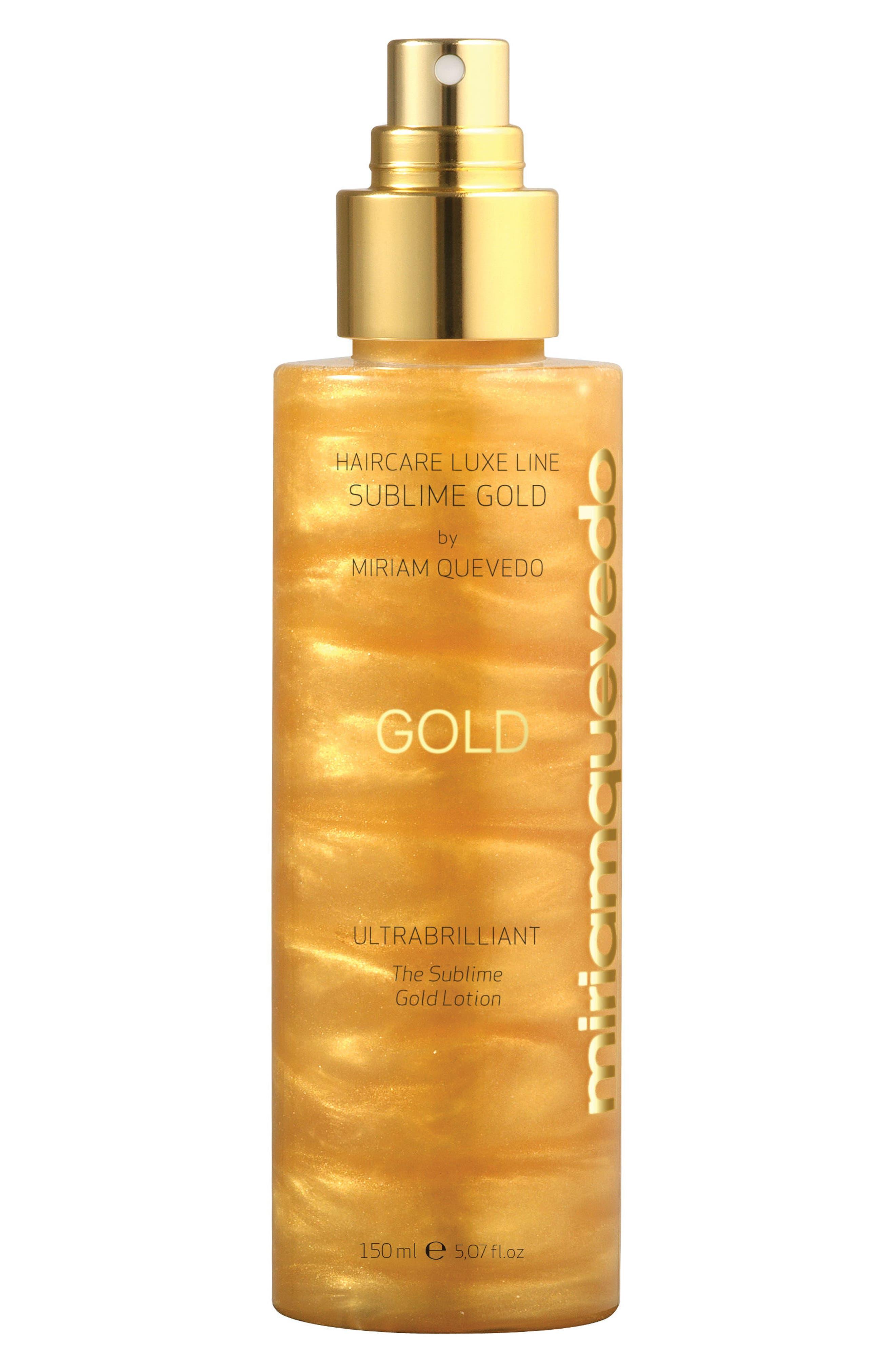 SPACE.NK.apothecary Miriam Quevado Ultrabrilliant Sublime Gold Lotion Spray,                             Main thumbnail 1, color,                             NO COLOR