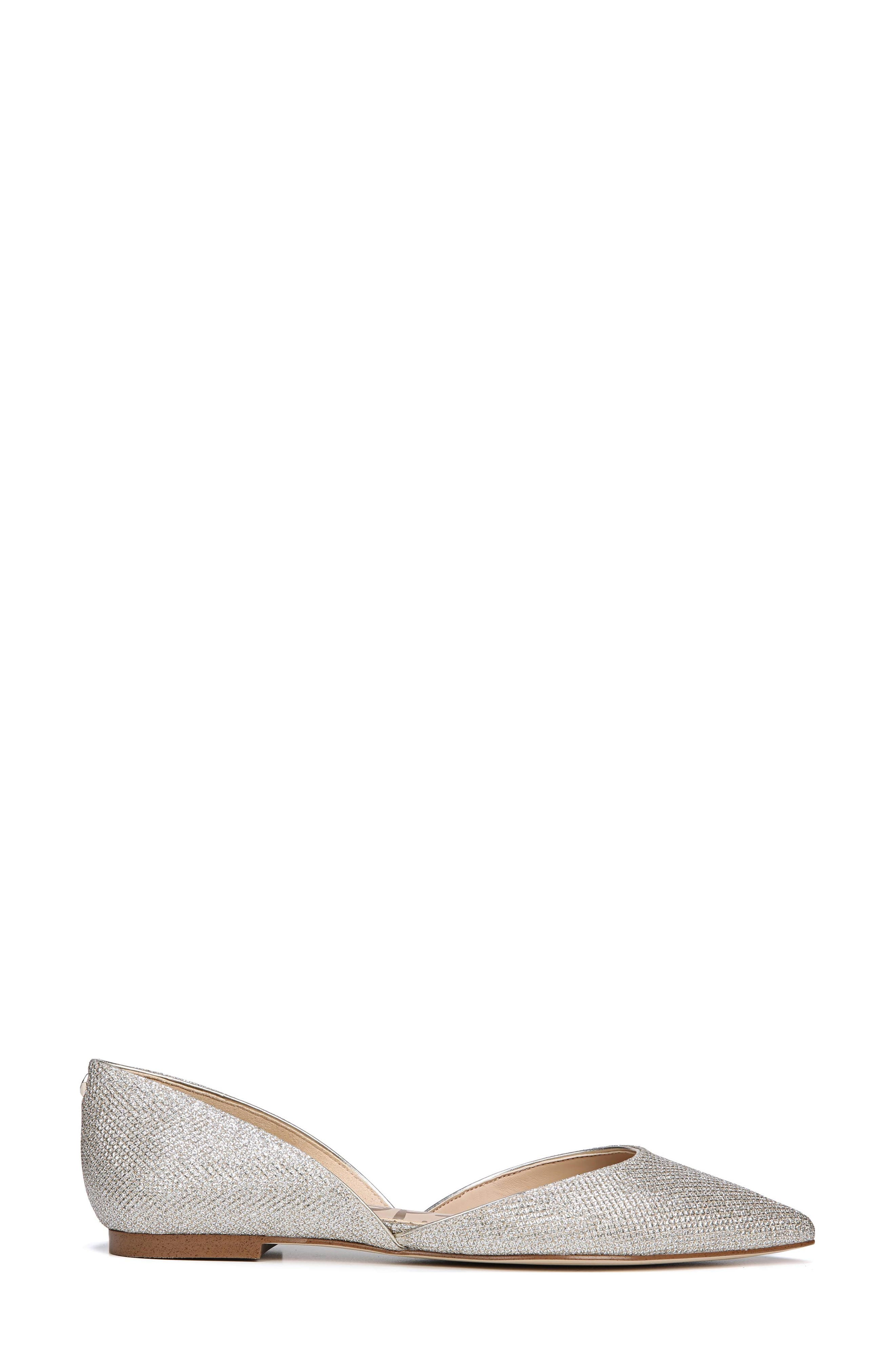 Rodney Pointy Toe d'Orsay Flat,                             Alternate thumbnail 3, color,                             JUTE GLAM FABRIC