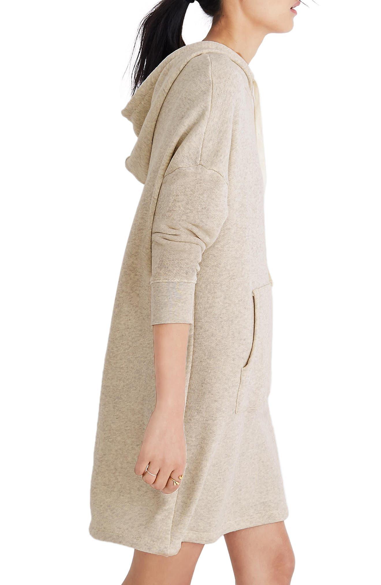 Hooded Sweatshirt Dress,                             Alternate thumbnail 3, color,                             020