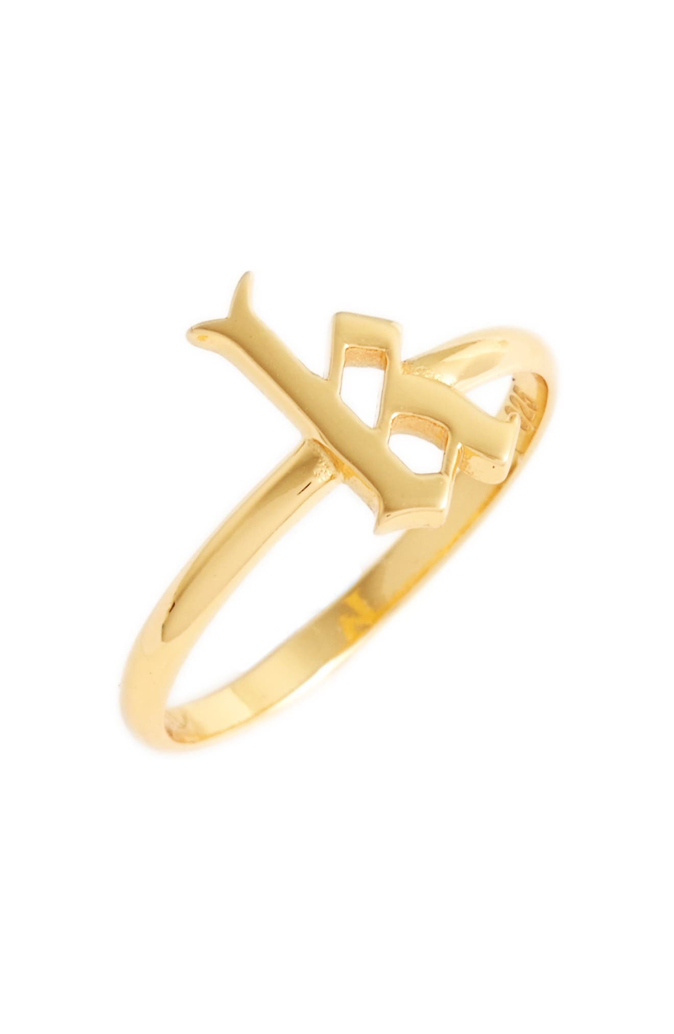 Gothic Initial Ring,                             Main thumbnail 22, color,