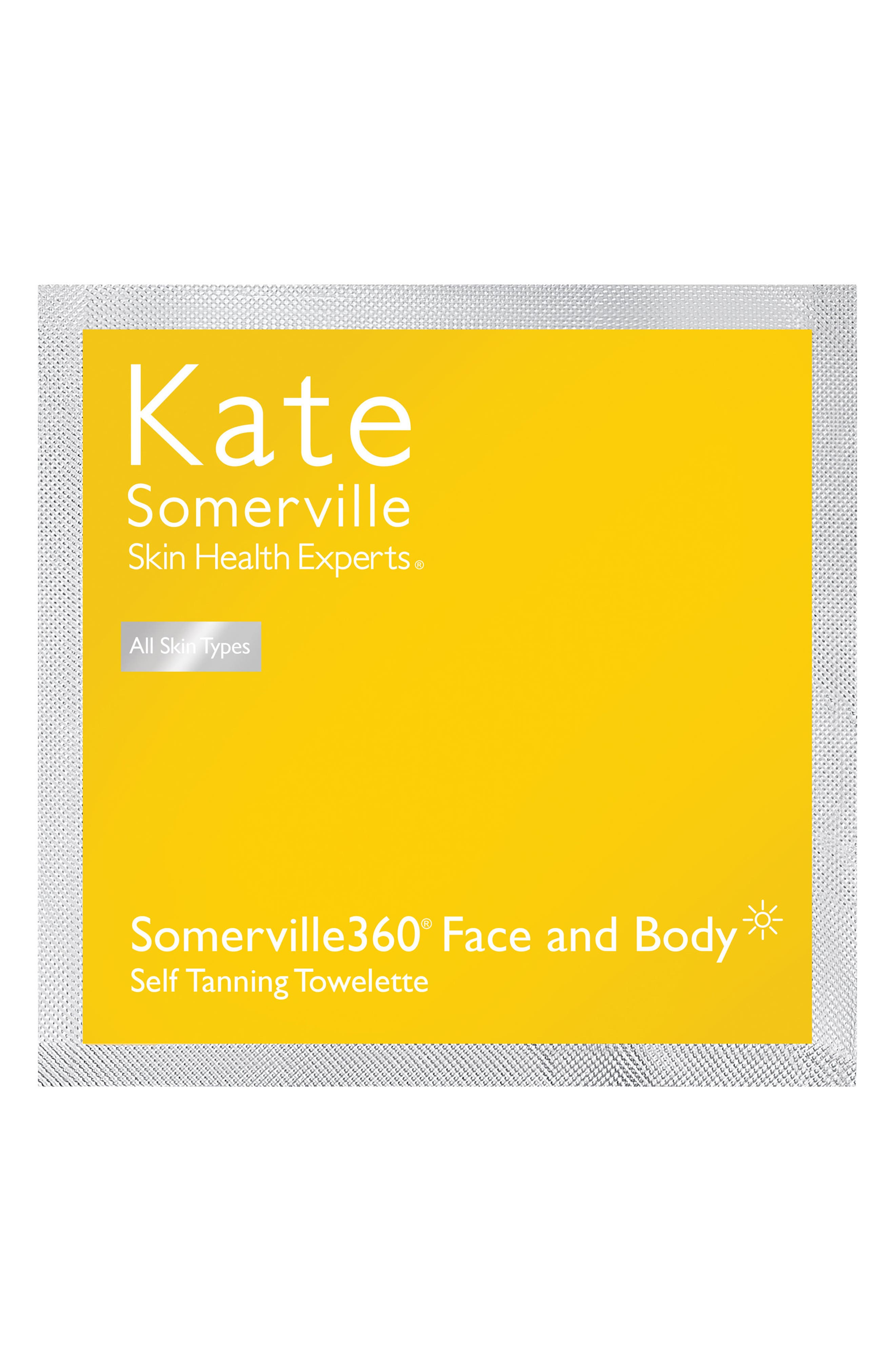 'Somerville360°' Tanning Towelettes, Main, color, NO COLOR