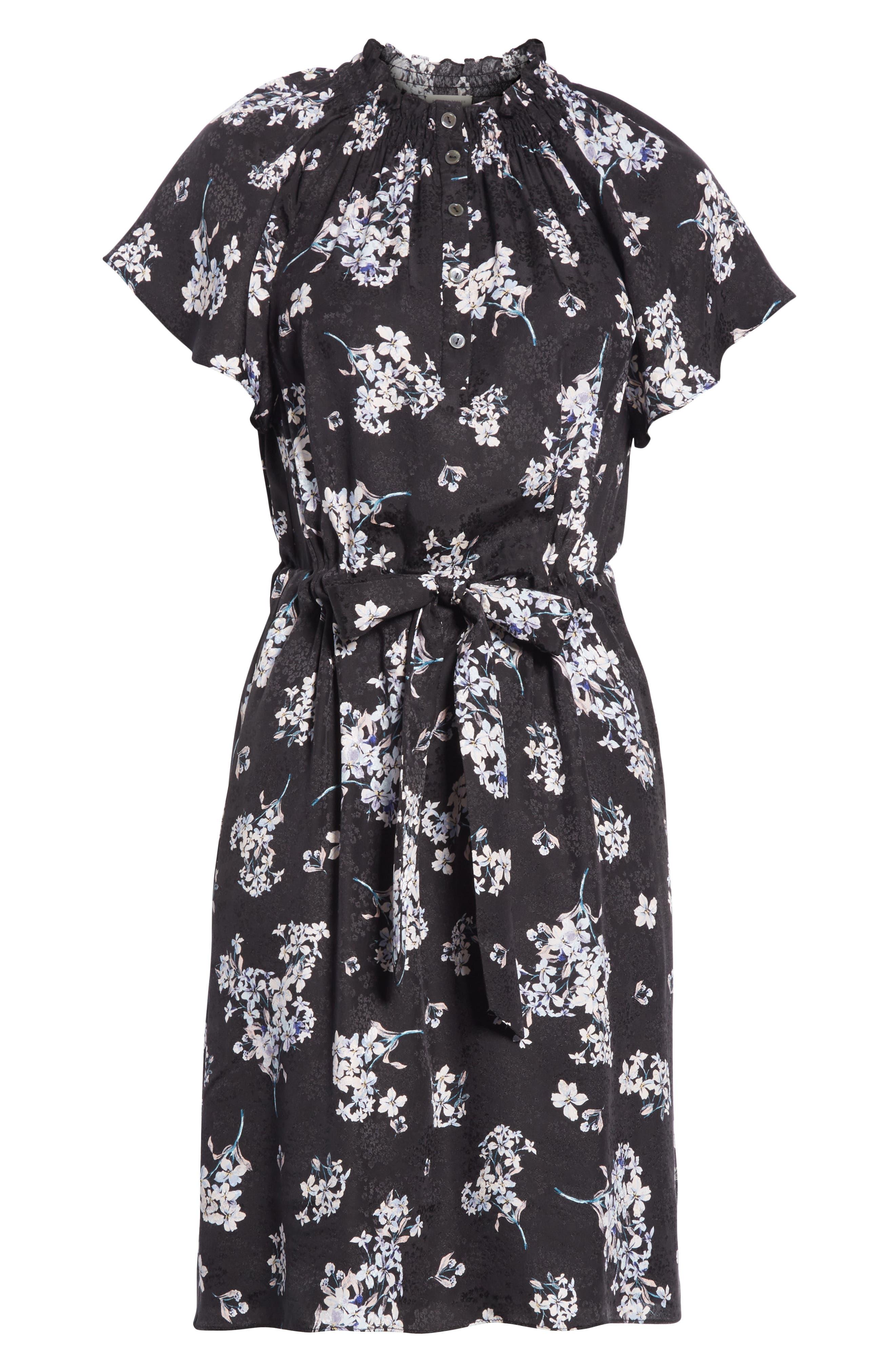 Hydrangea Silk Dress,                             Alternate thumbnail 7, color,                             014