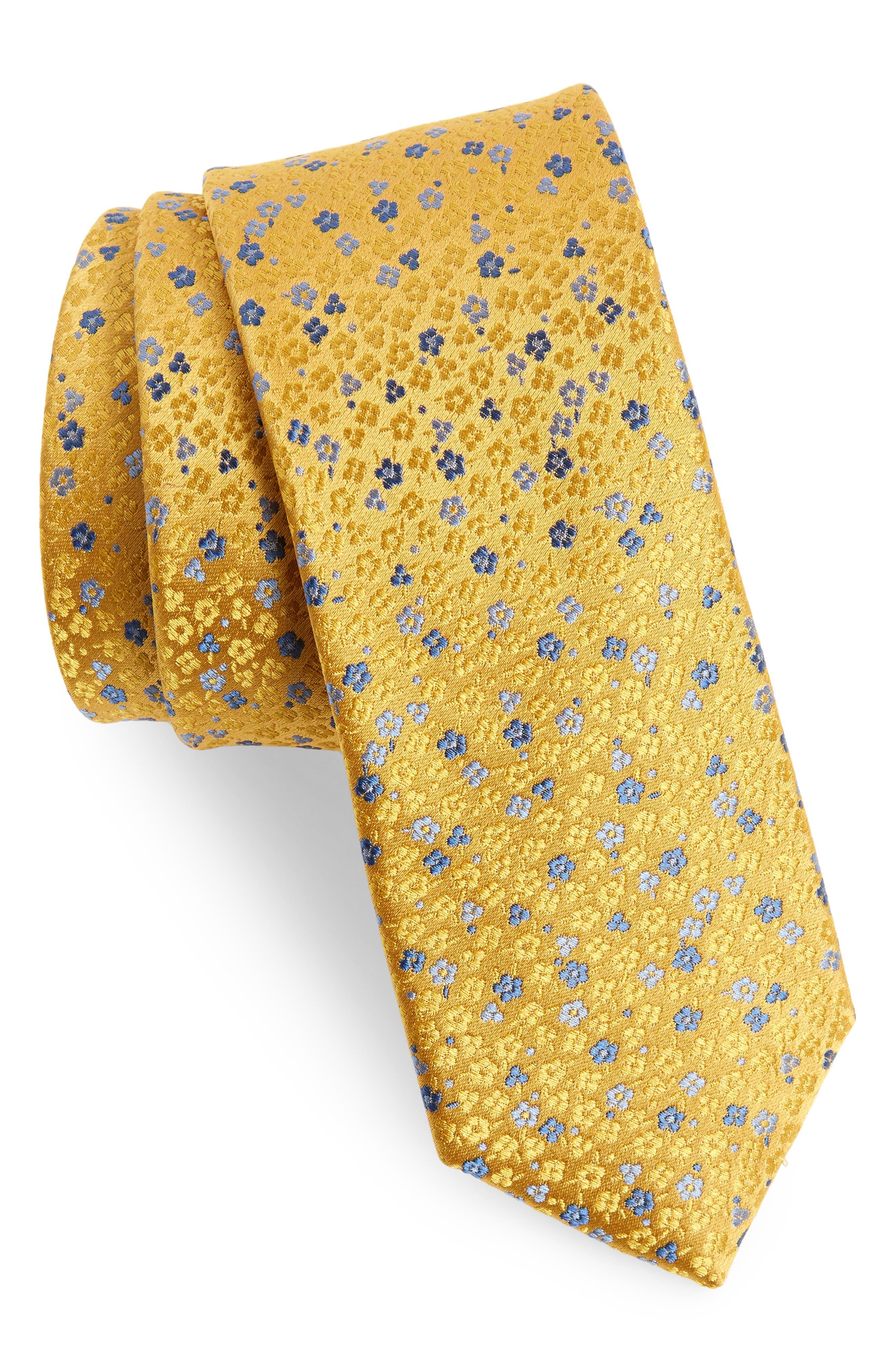 Flower Fields Silk Tie,                             Main thumbnail 2, color,