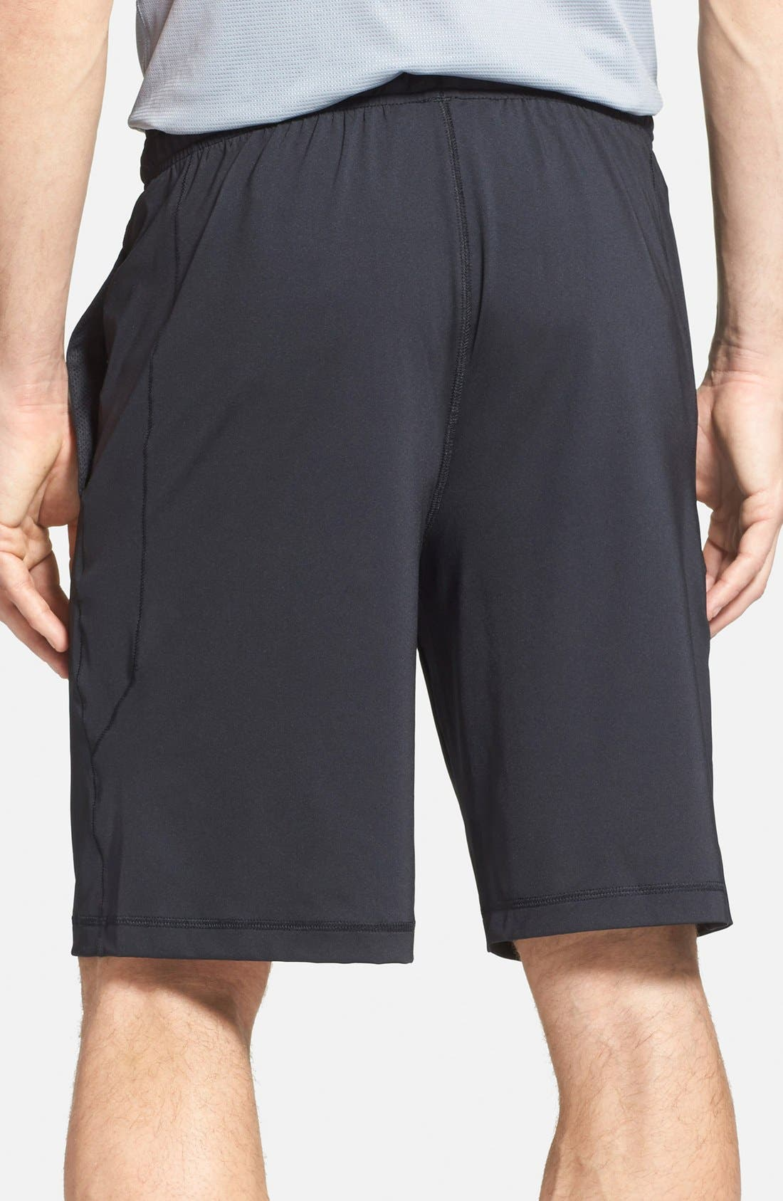'Raid' HeatGear<sup>®</sup> Loose-Fit Athletic Shorts,                             Alternate thumbnail 4, color,                             001